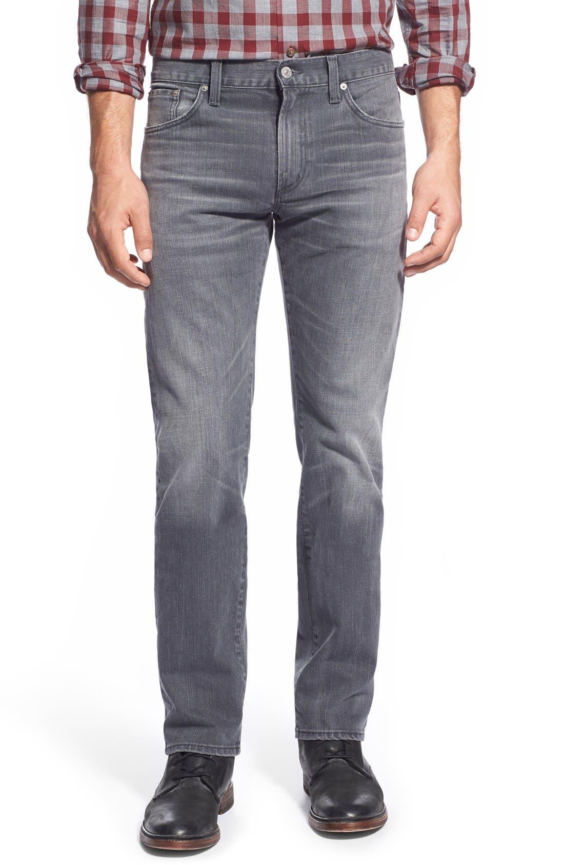 'Core' Slim Straight Leg Jeans,                             Main thumbnail 1, color,                             SHAKER HEIGHTS