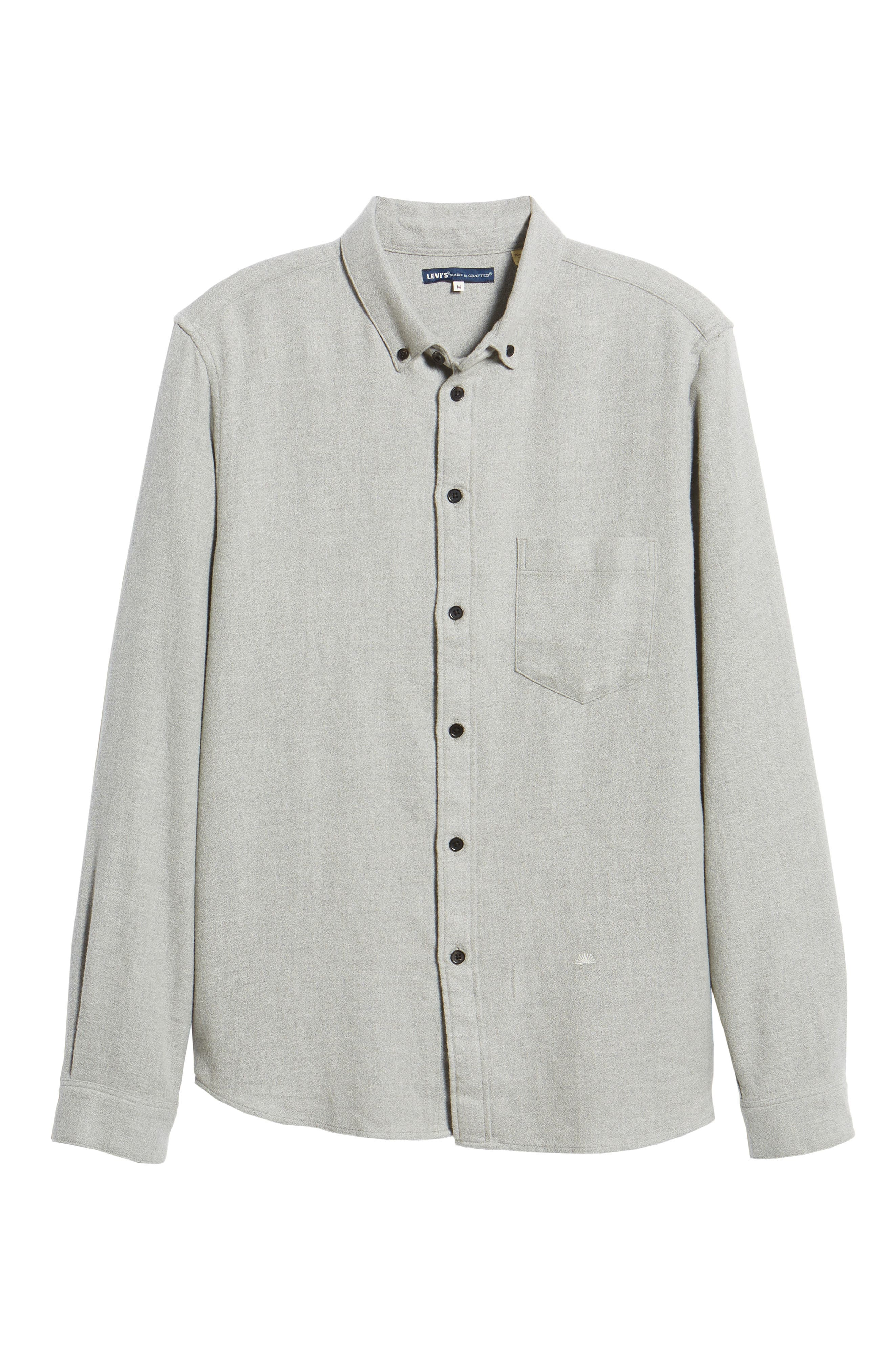 Levi's<sup>®</sup> Made & Crafted Regular Fit Mélange Shirt,                             Alternate thumbnail 5, color,                             020