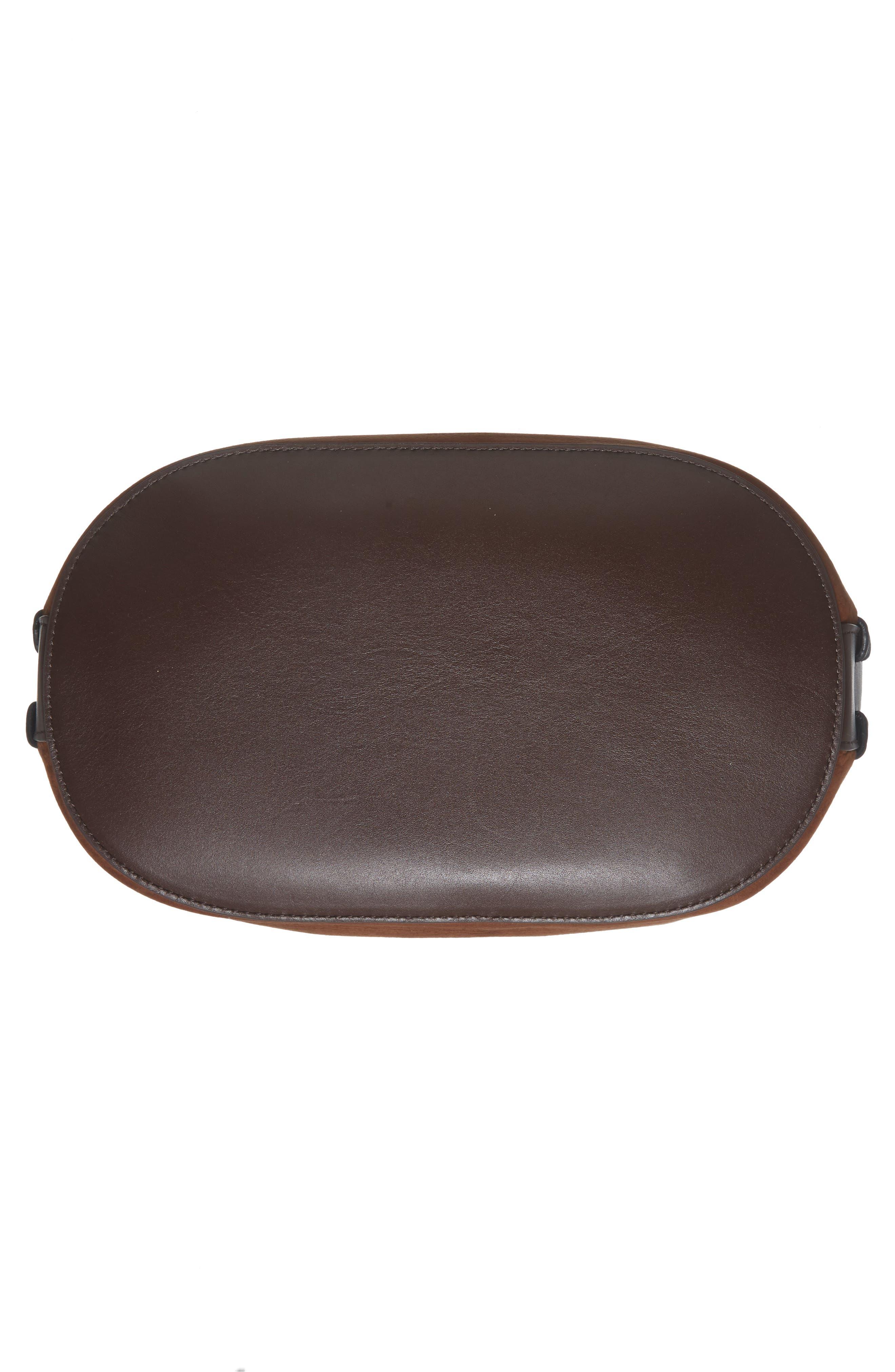 Ray Nubuck Leather Bucket Bag,                             Alternate thumbnail 6, color,                             200