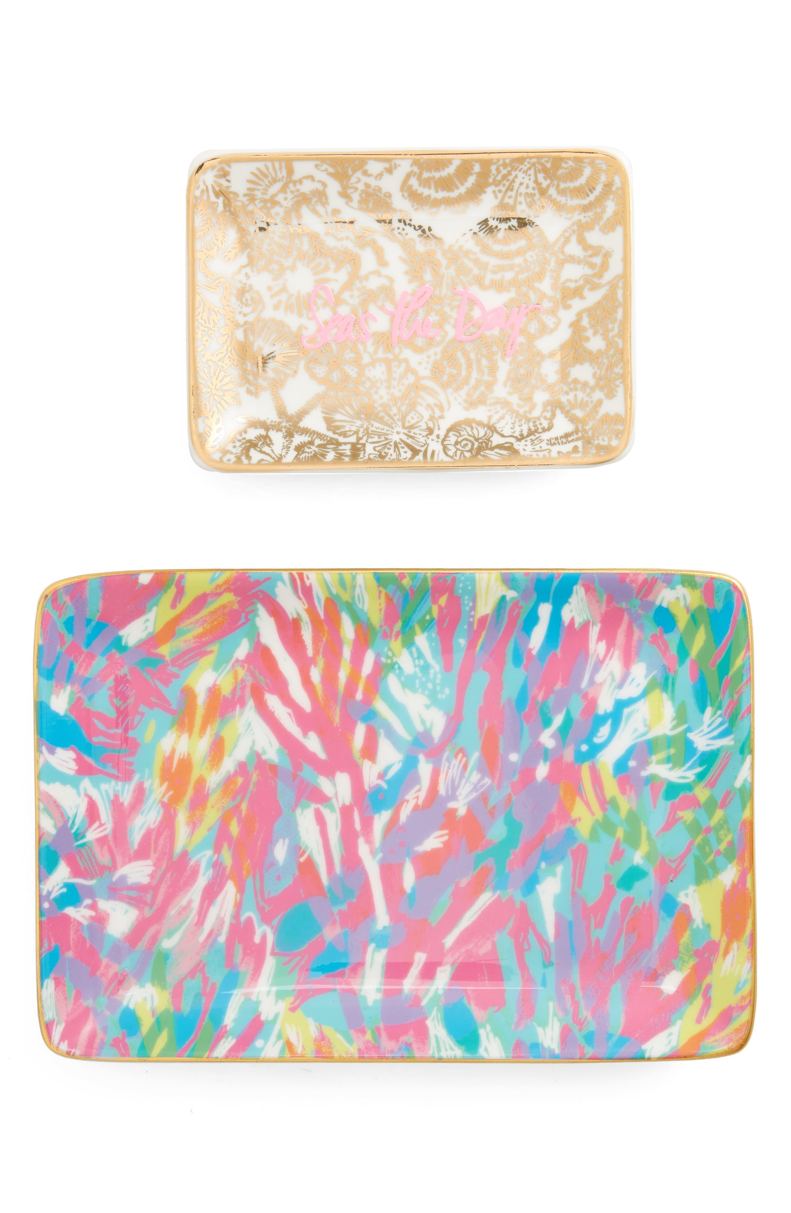 Set of 2 Ceramic Trinket Trays,                             Main thumbnail 1, color,                             650