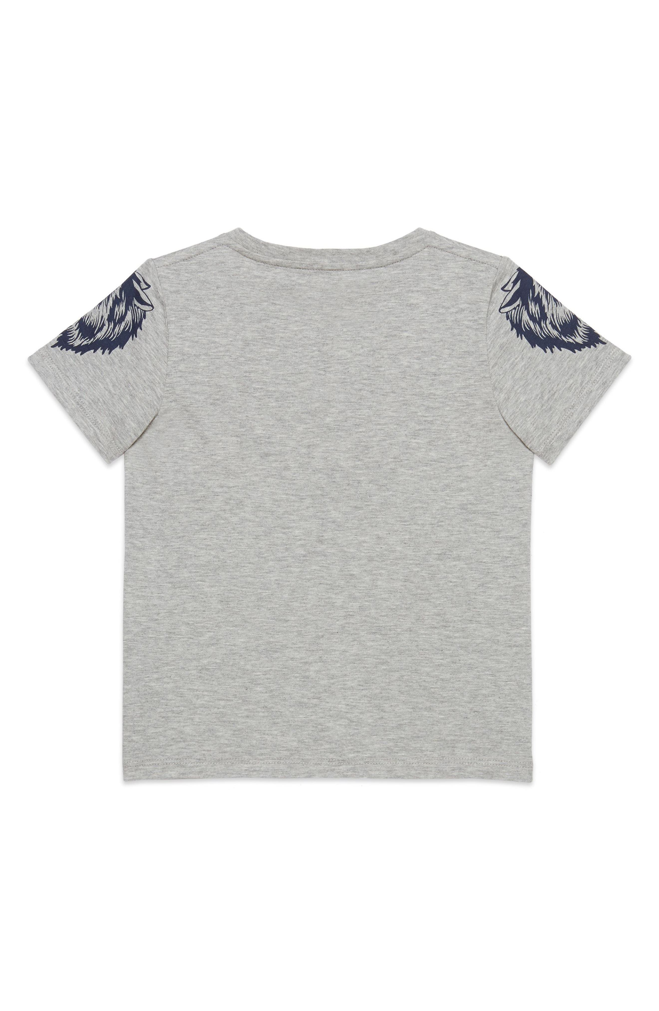 Guccy Monster & King Snake Graphic T-Shirt,                             Alternate thumbnail 2, color,                             L.GREY MEL B/ R/ B