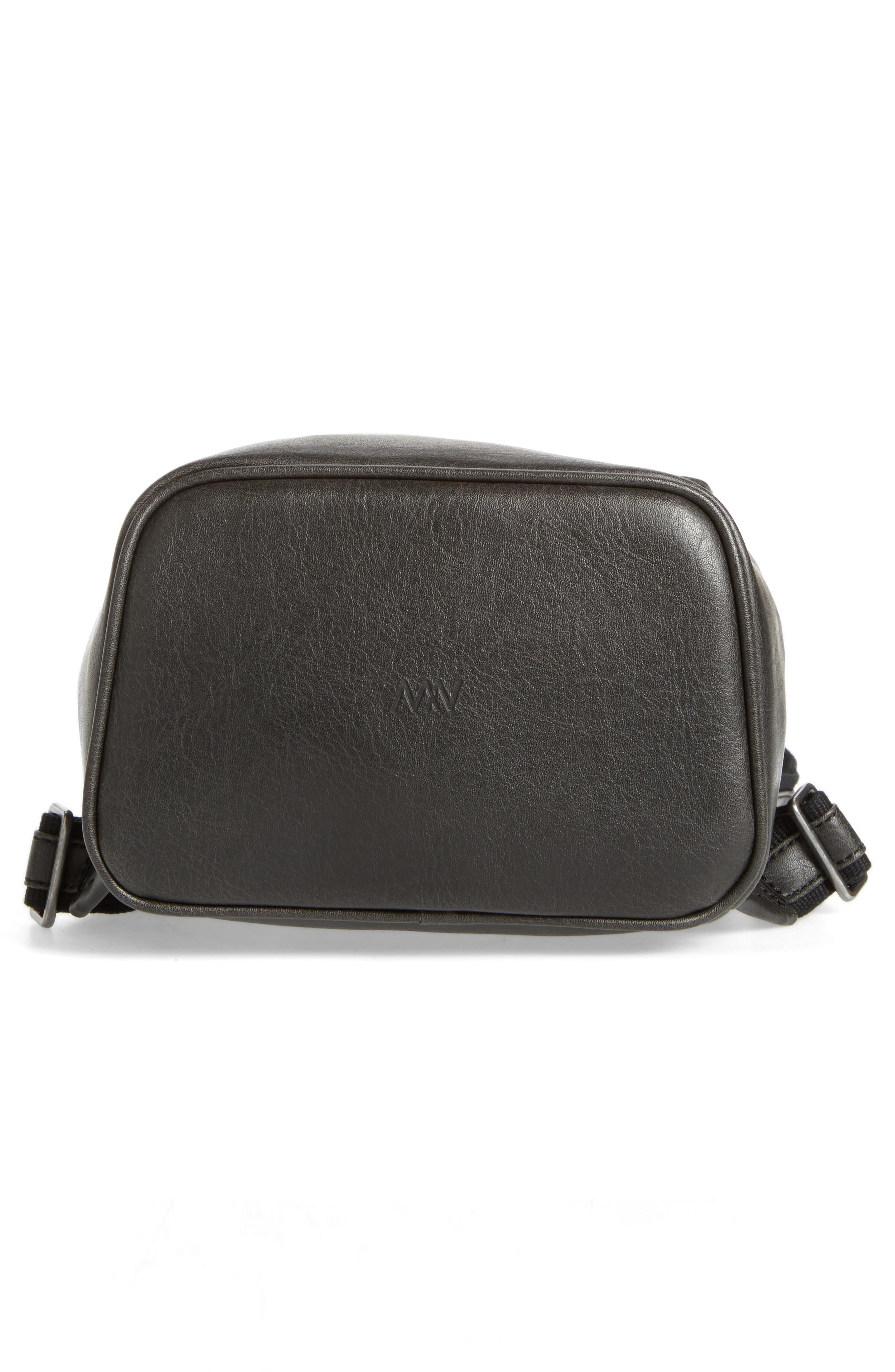 Mini Fabi Faux Leather Backpack,                             Alternate thumbnail 6, color,                             BLACK