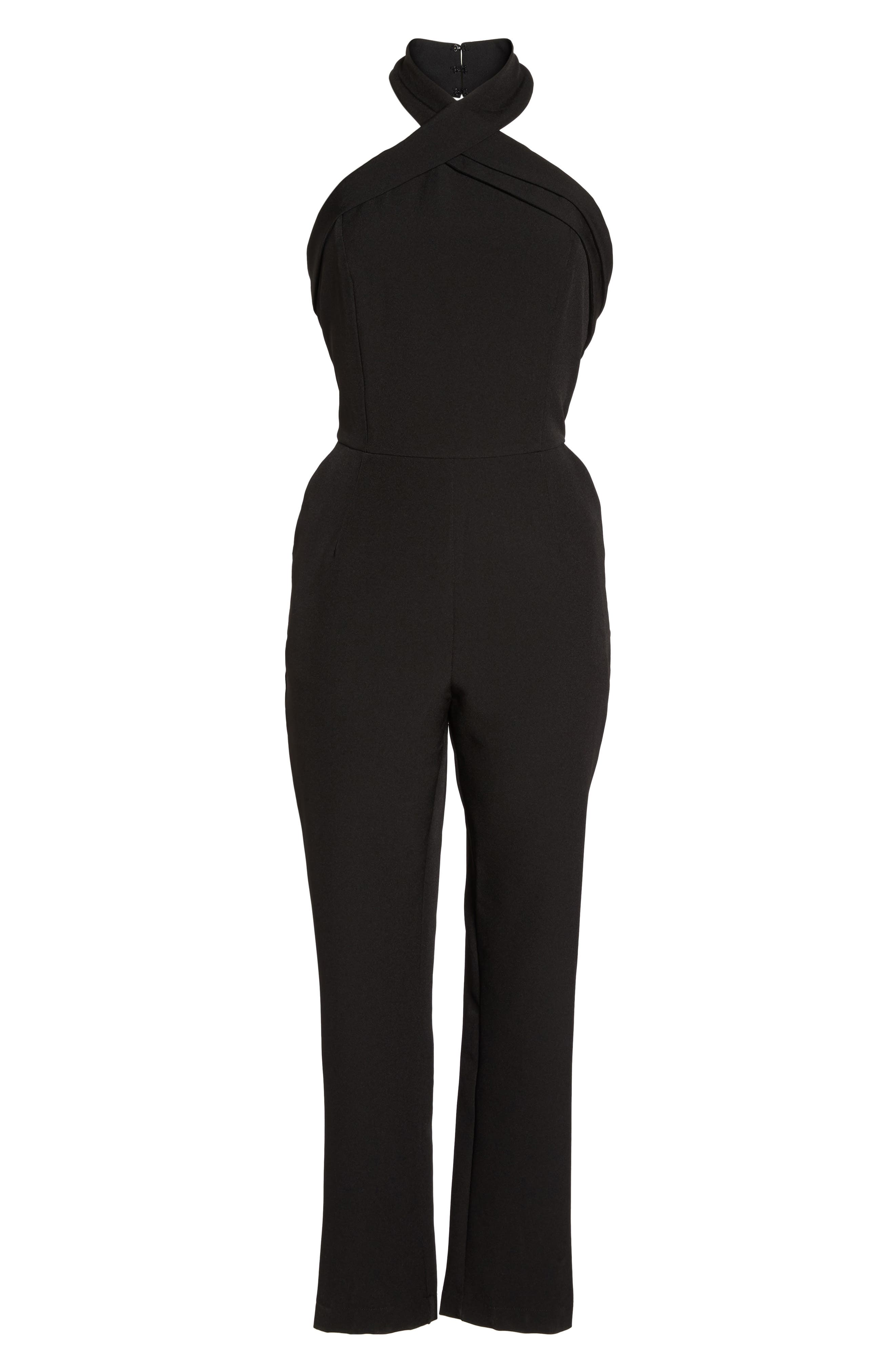 Halter Jumpsuit,                             Alternate thumbnail 11, color,