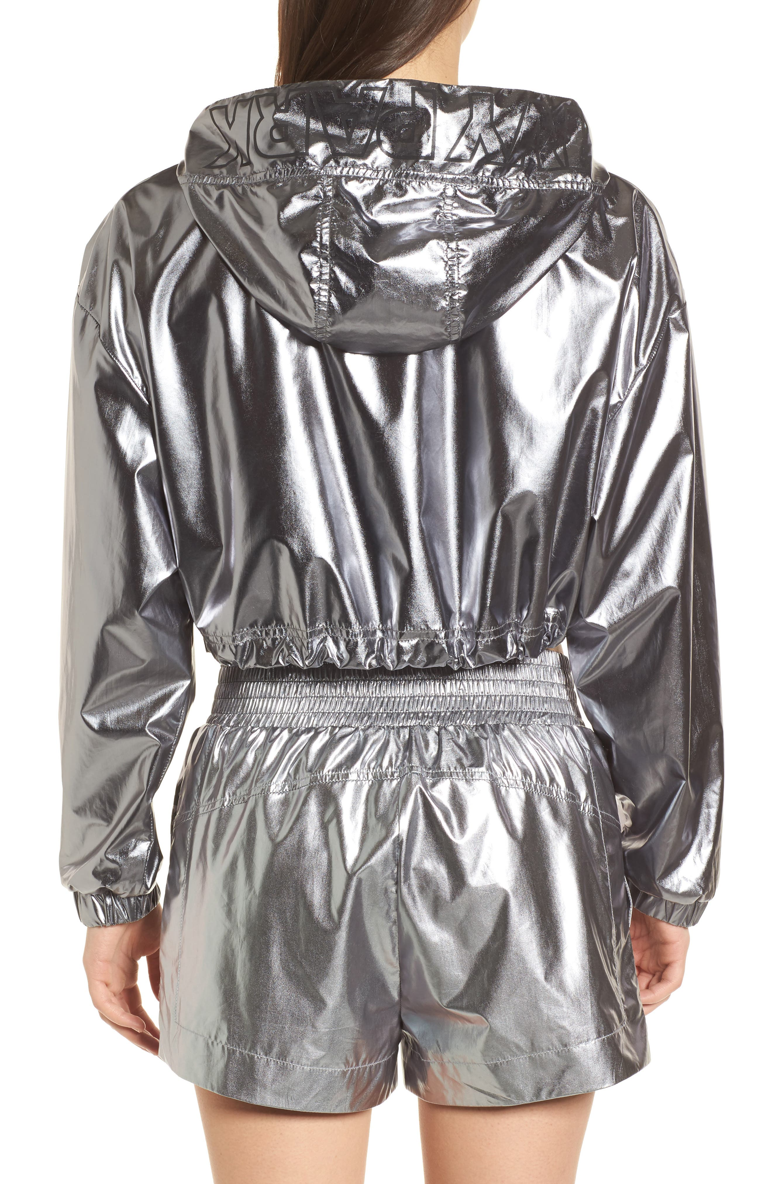 Metallic Crop Jacket,                             Alternate thumbnail 2, color,                             040