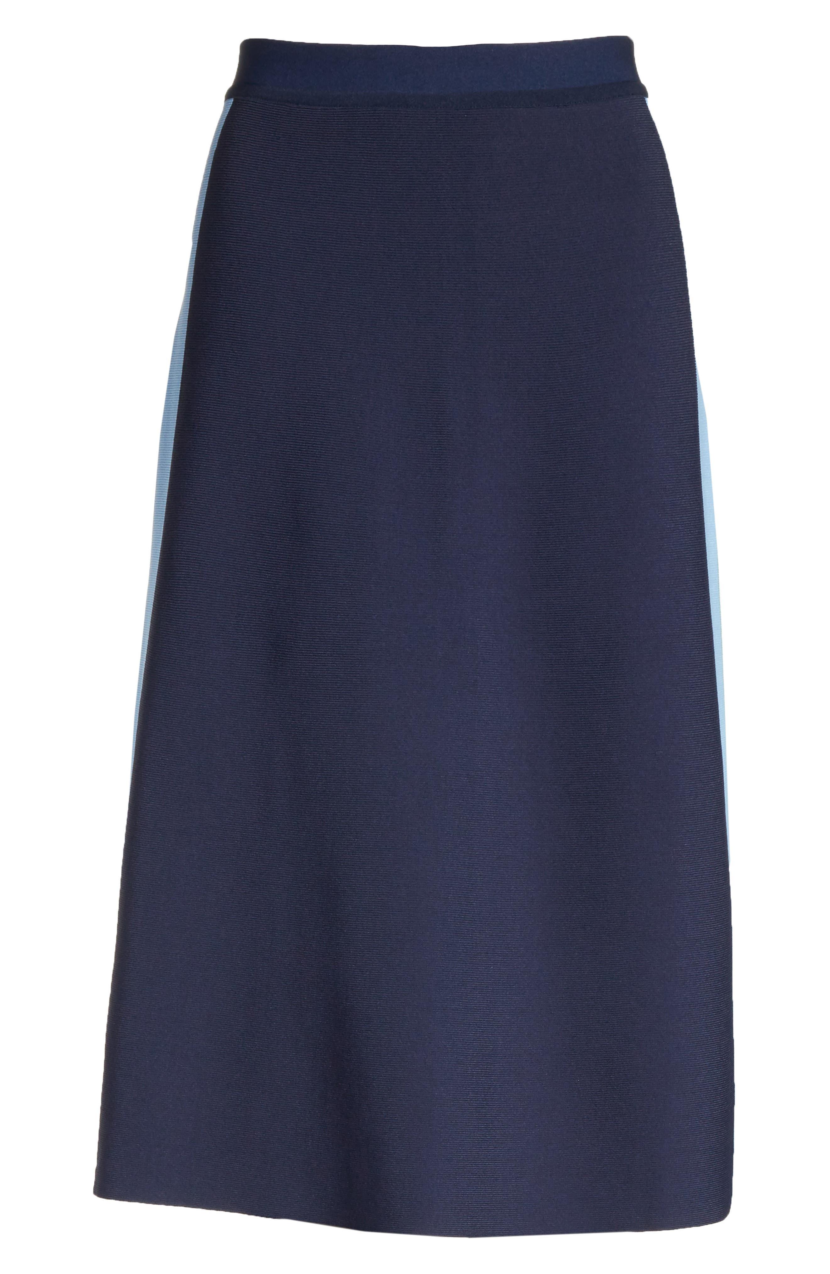 Tech Knit Colorblock Skirt,                             Alternate thumbnail 6, color,                             405