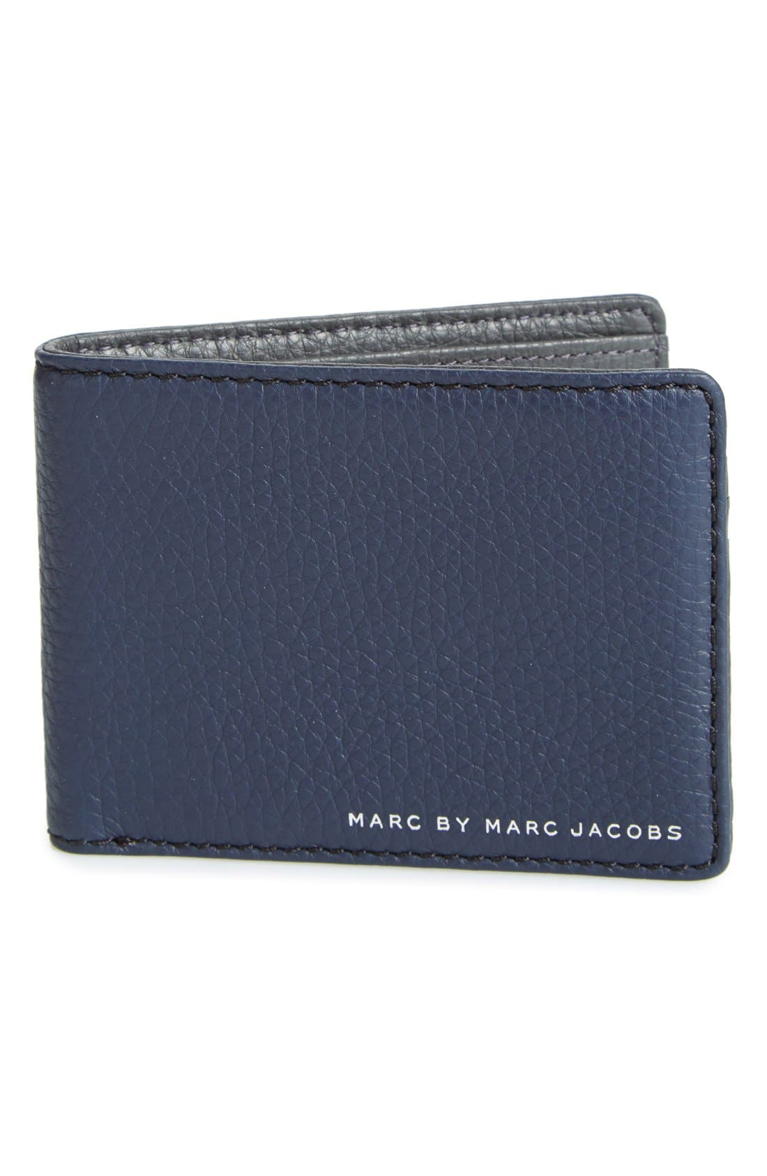 'Martin' Leather Bifold Wallet, Main, color, 495