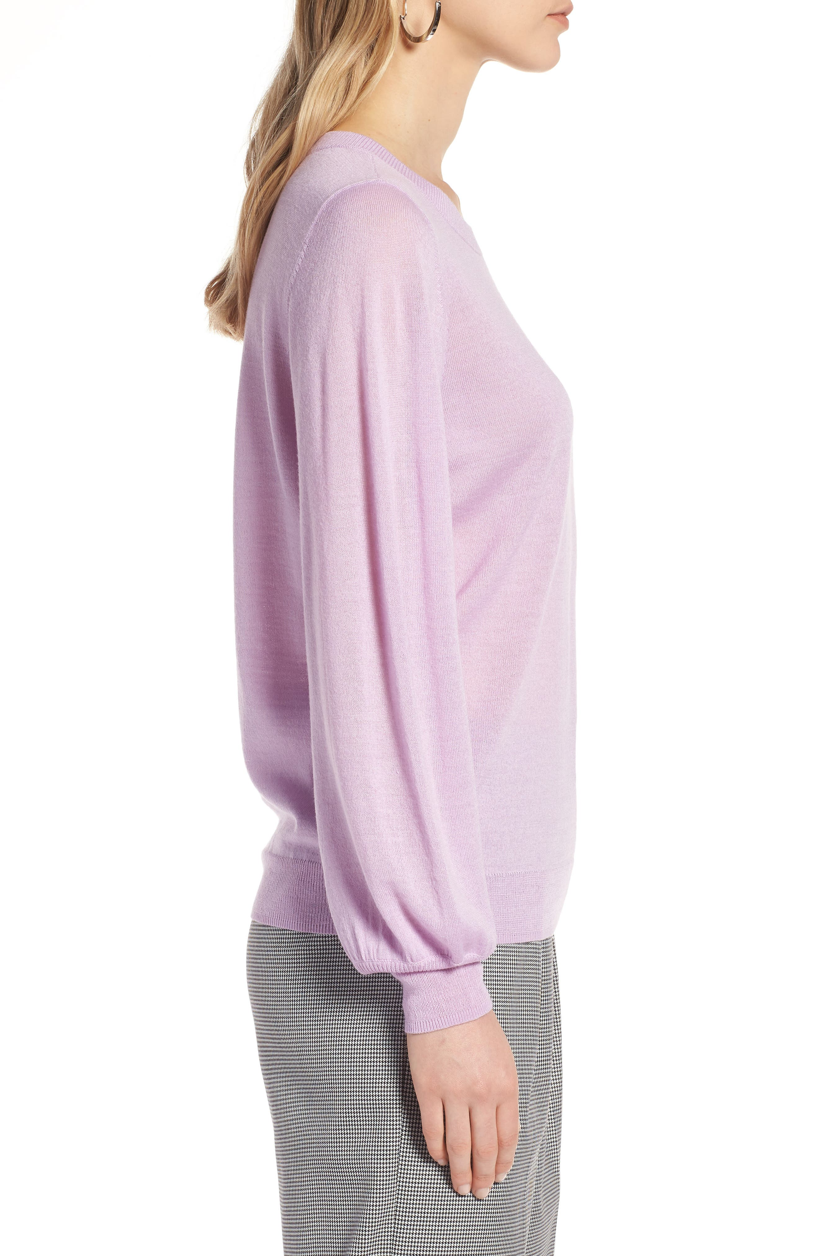 Puff Sleeve Sweater,                             Alternate thumbnail 28, color,