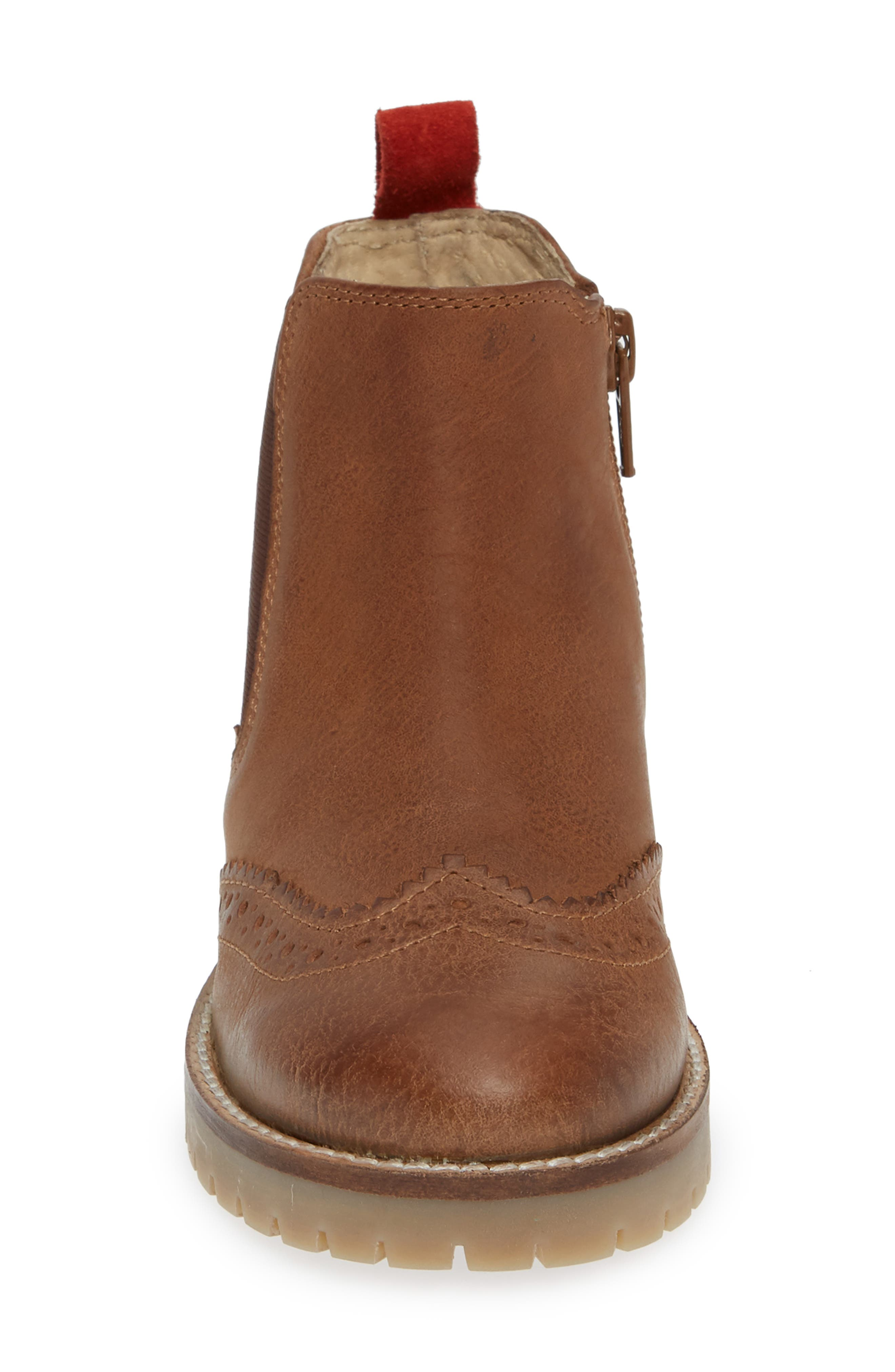Mini Boden Chelsea Boot,                             Alternate thumbnail 4, color,                             TAN
