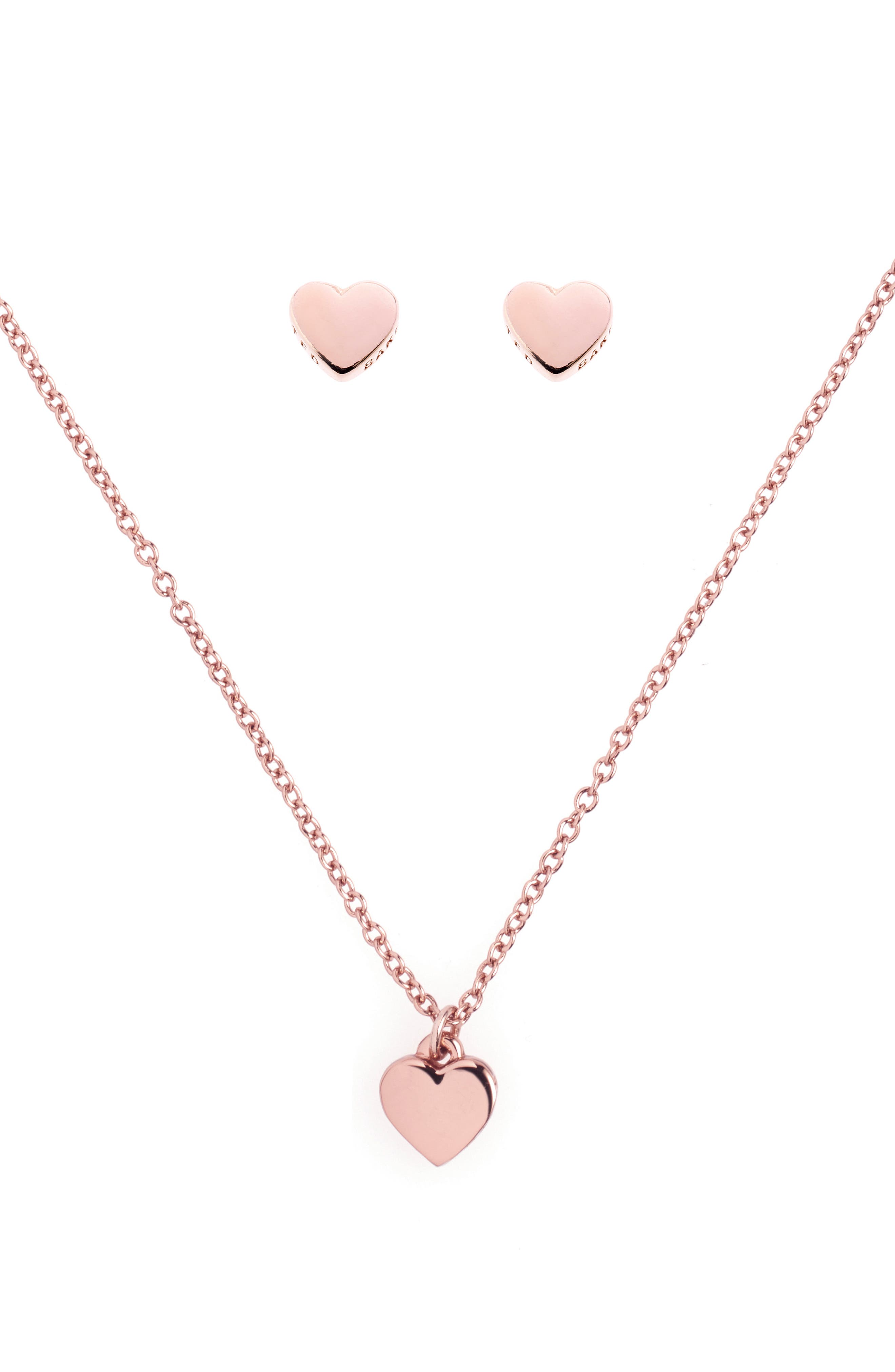 Ted Baker London Amoria Sweetheart Earrings & Necklace Gift Set
