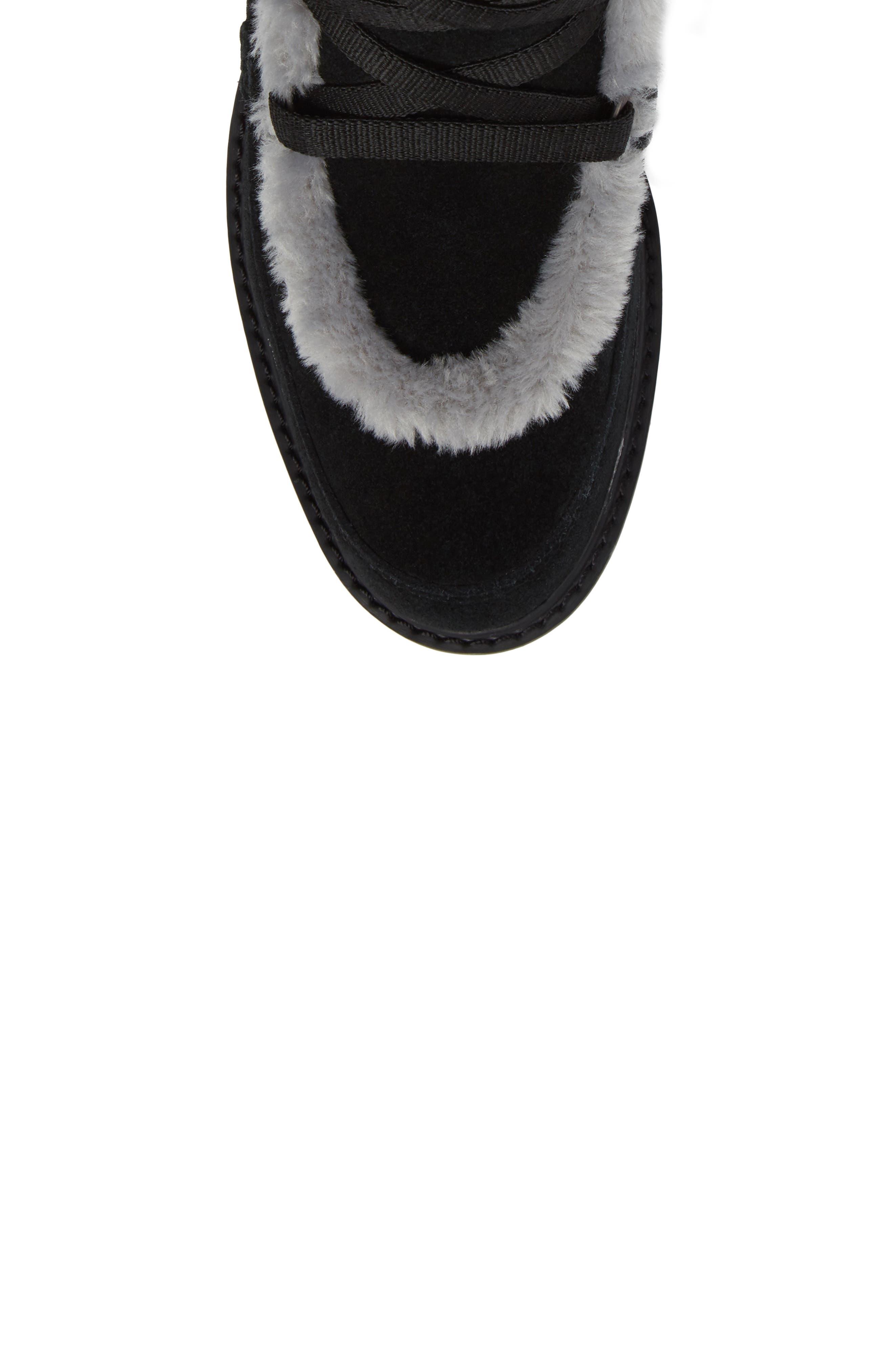 Kenniston Faux Fur Water Resistant Mukluk Boot,                             Alternate thumbnail 5, color,                             001