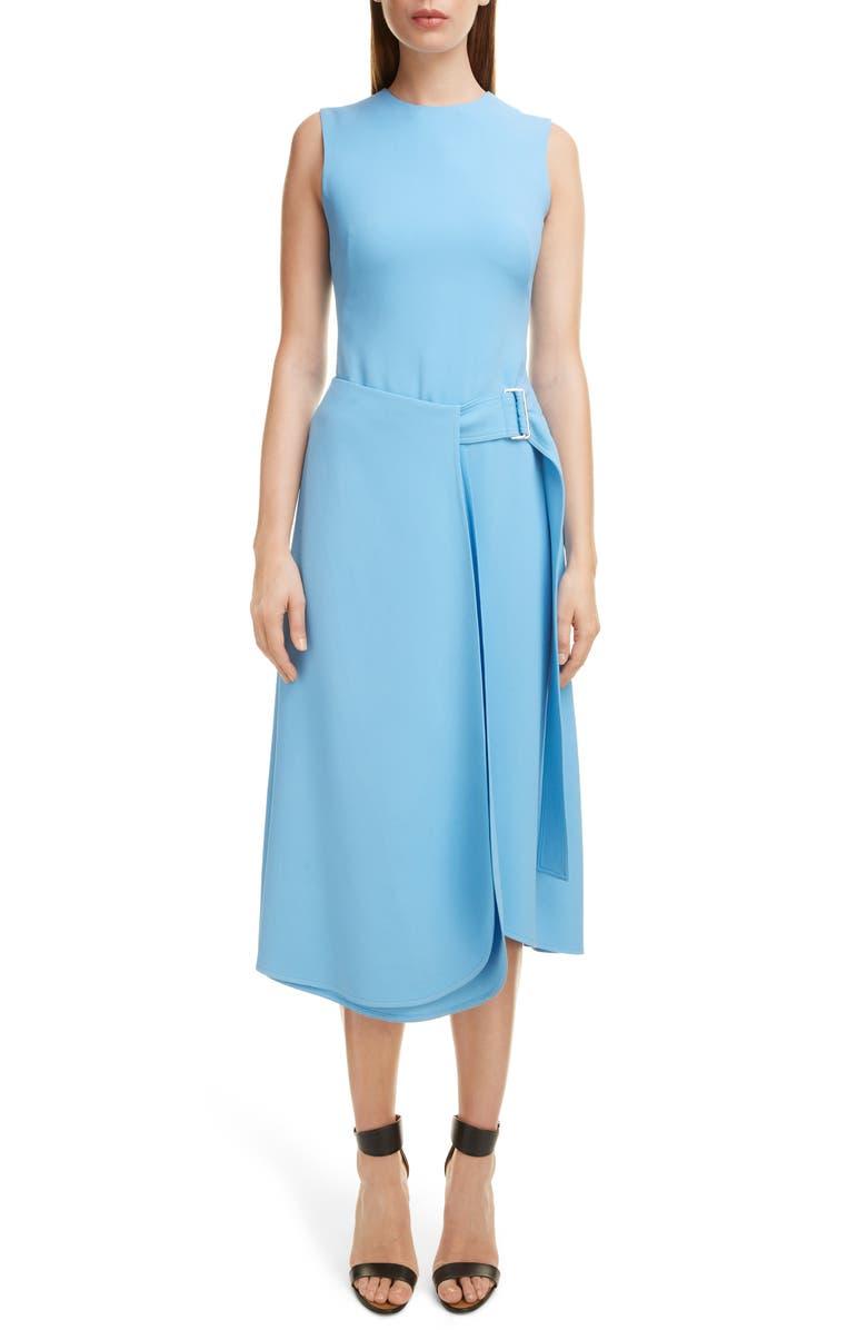 VICTORIA BECKHAM Belted Midi Dress, Main, color, SKY BLUE