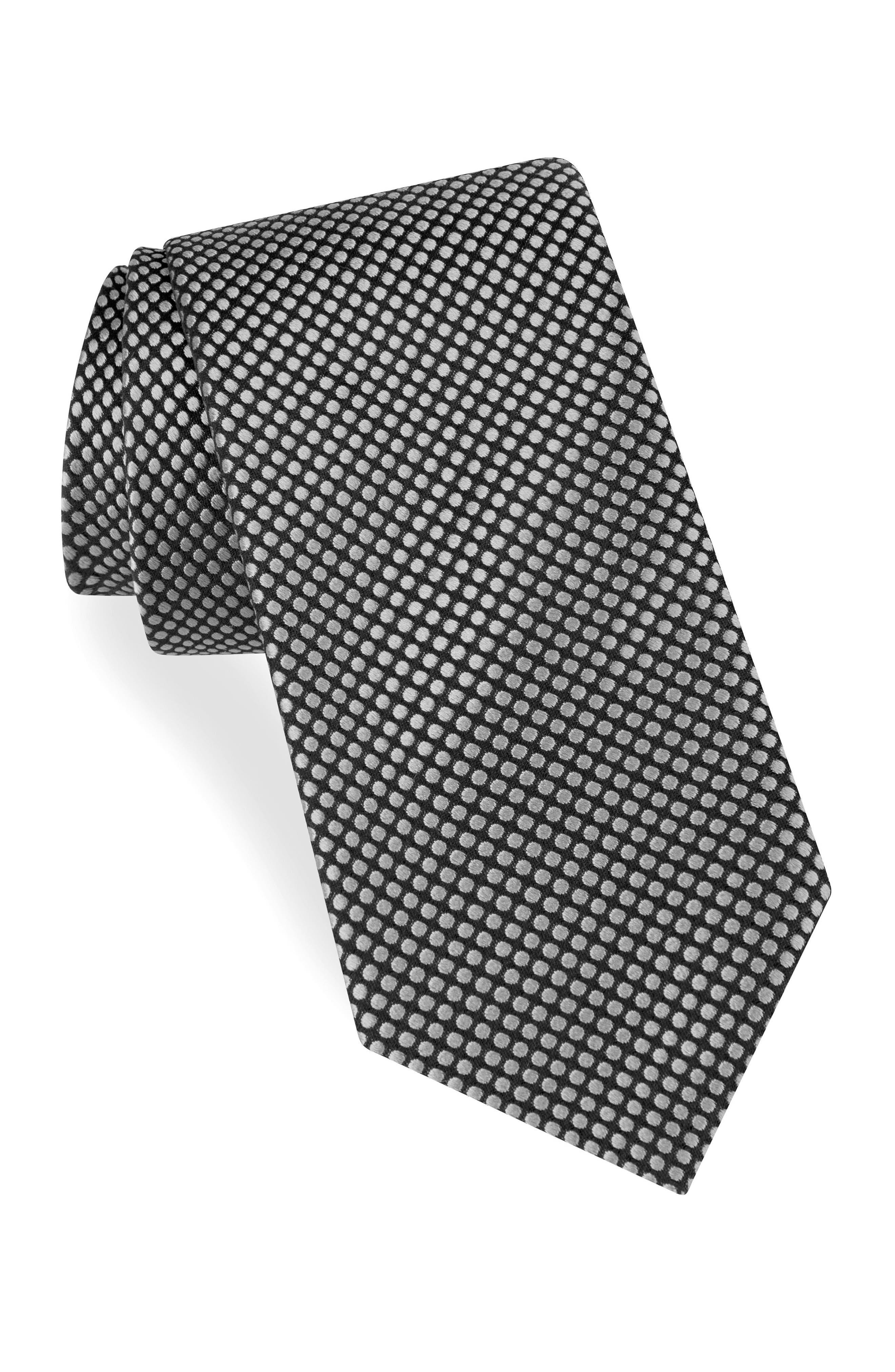 Dot Silk Tie,                             Main thumbnail 1, color,                             002