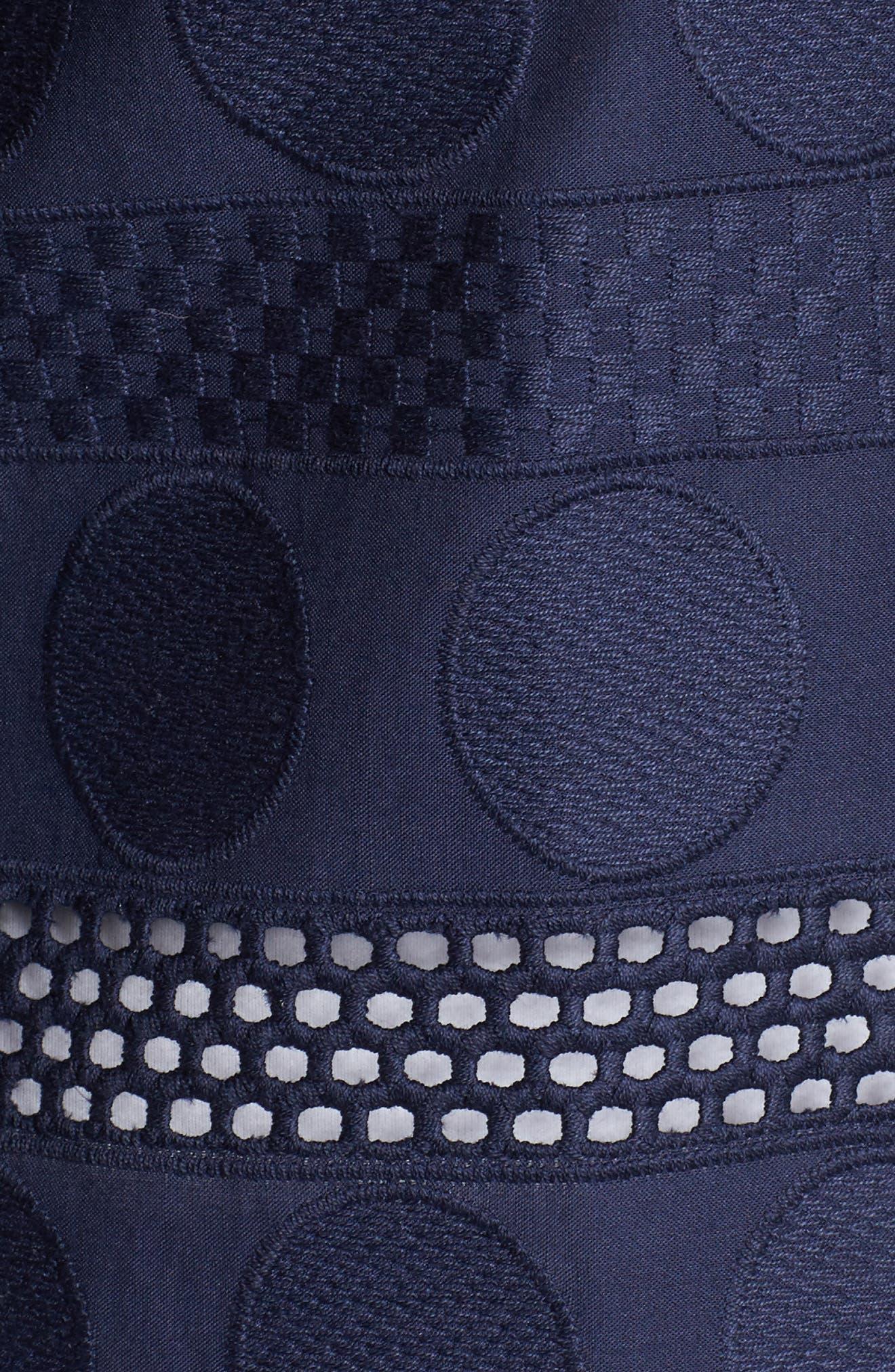 Circle Eyelet Tunic Shirt,                             Alternate thumbnail 5, color,                             415