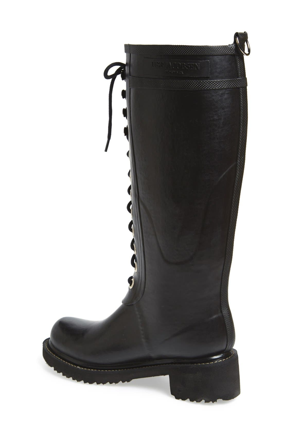 Waterproof Lace-Up Snow/Rain Boot,                             Alternate thumbnail 2, color,