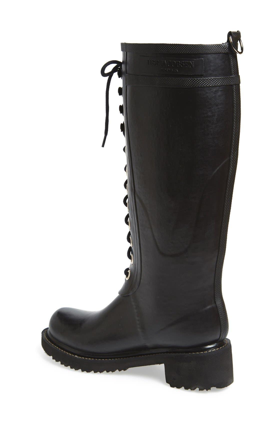 Waterproof Lace-Up Snow/Rain Boot,                             Alternate thumbnail 2, color,                             001