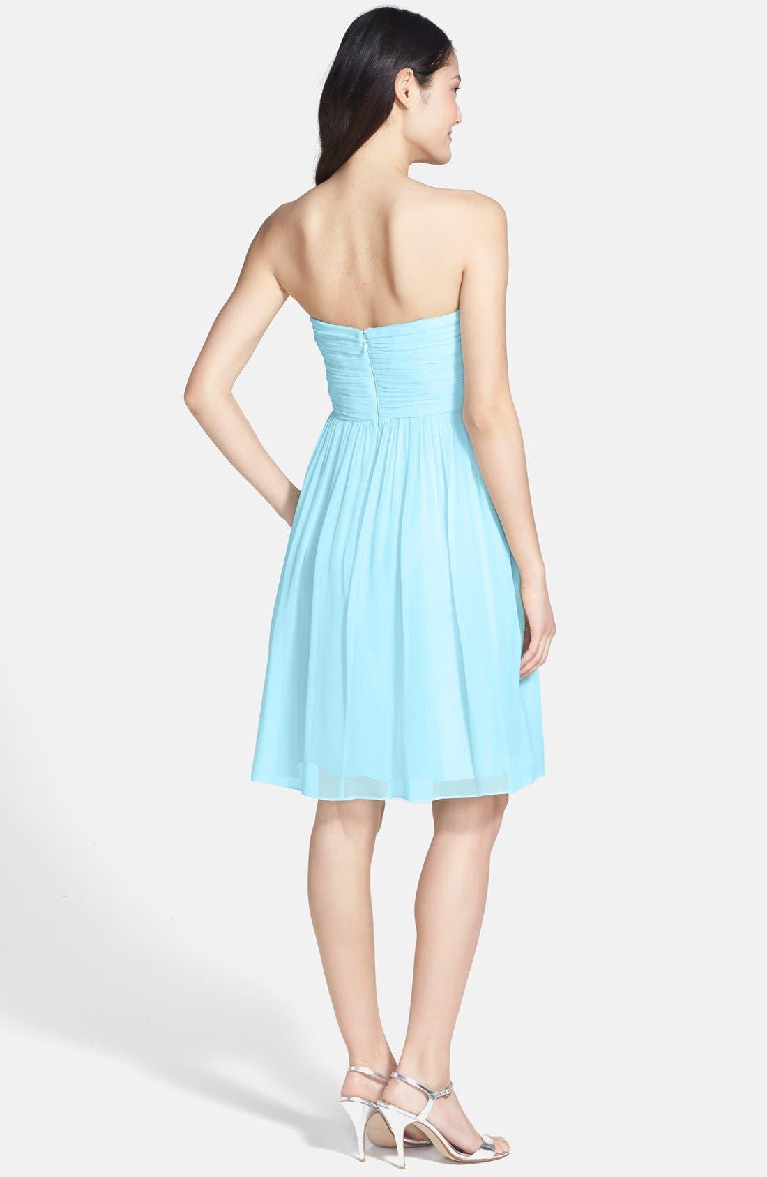 'Morgan' Strapless Silk Chiffon Dress,                             Alternate thumbnail 108, color,
