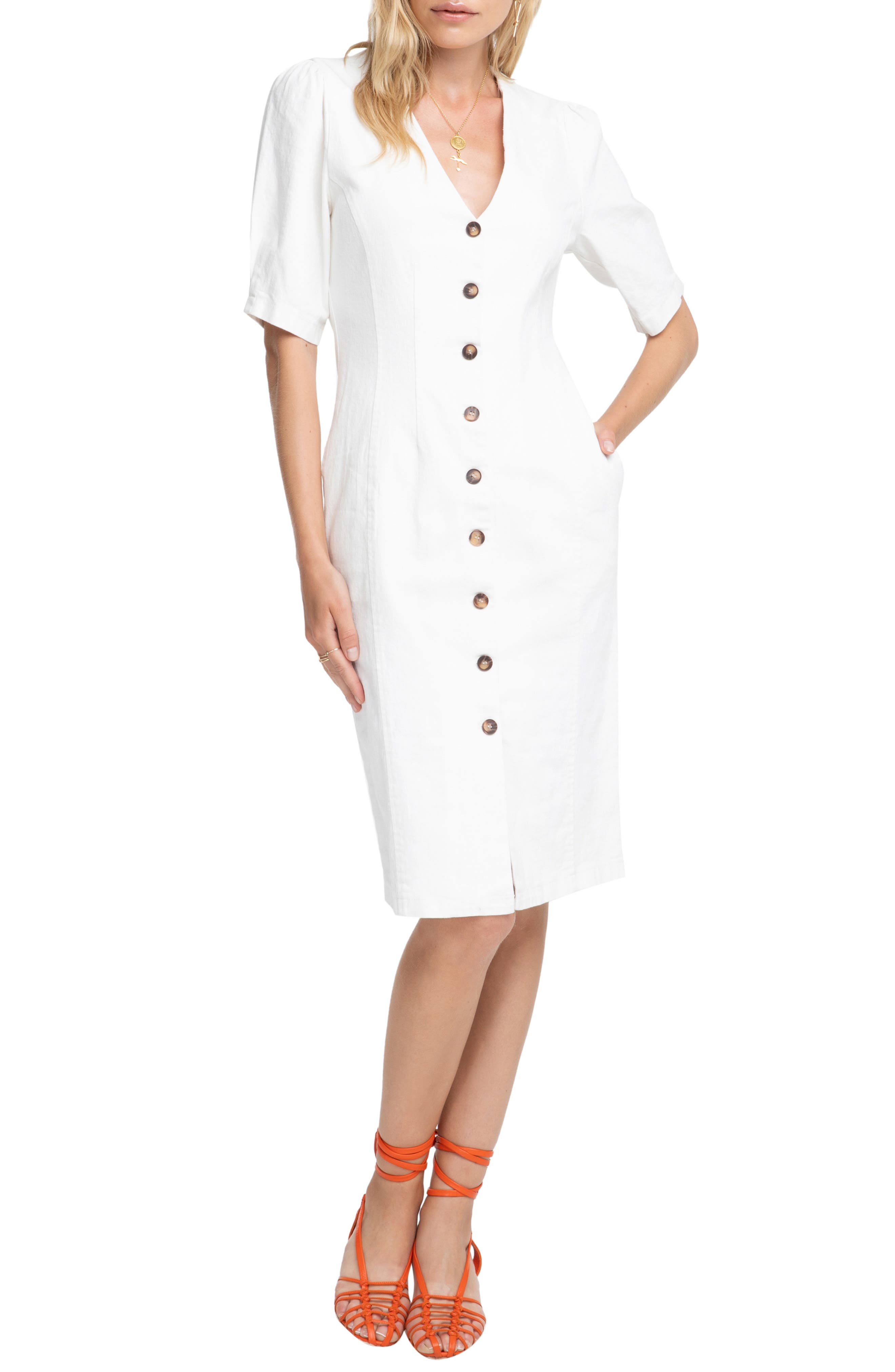 Astr The Label Logan Dress, White
