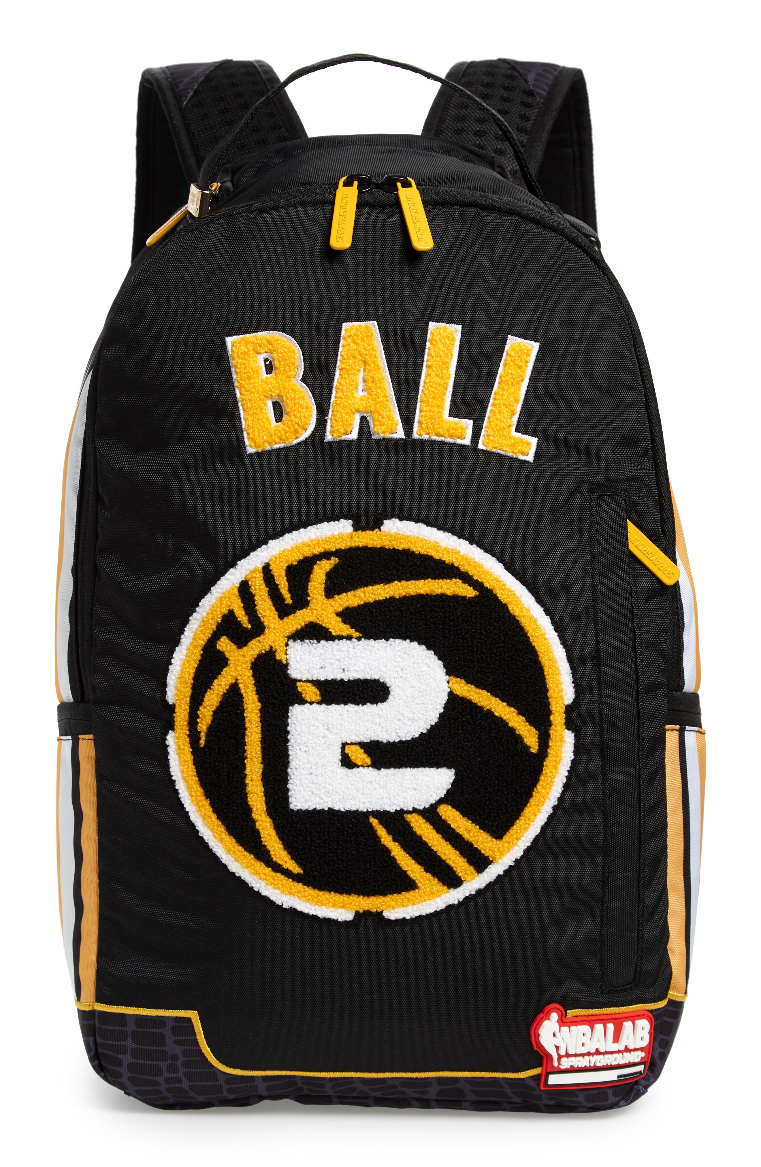 Ball Jersey Backpack,                         Main,                         color, BLACK
