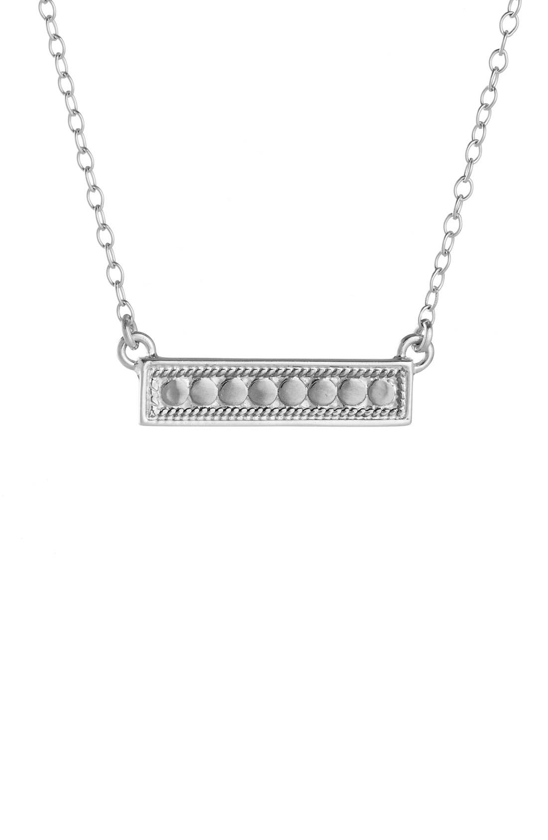 'Gili' Bar Pendant Necklace,                             Alternate thumbnail 7, color,                             GOLD/ SILVER