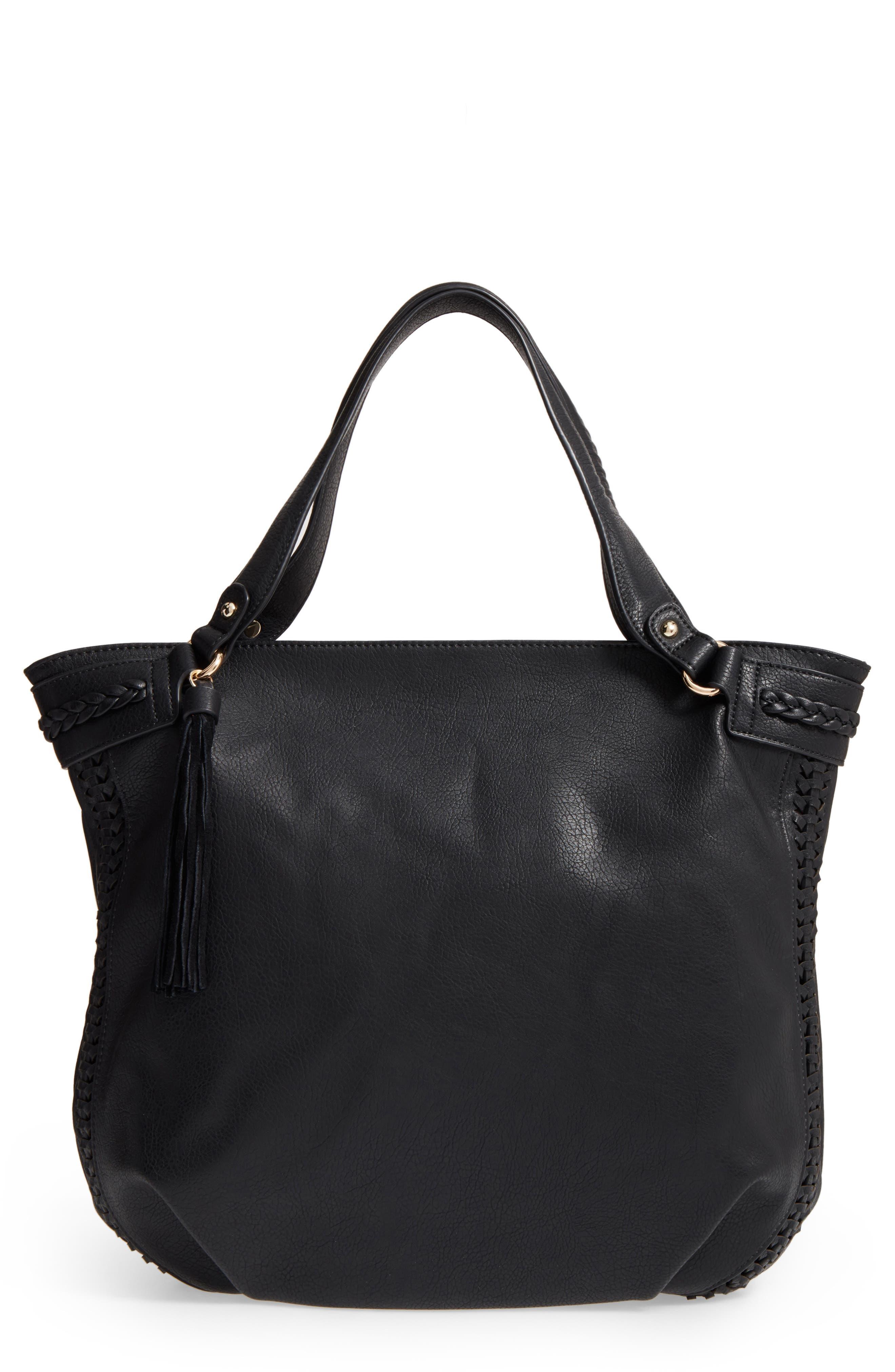 Tara Braided Faux Leather Hobo,                         Main,                         color,