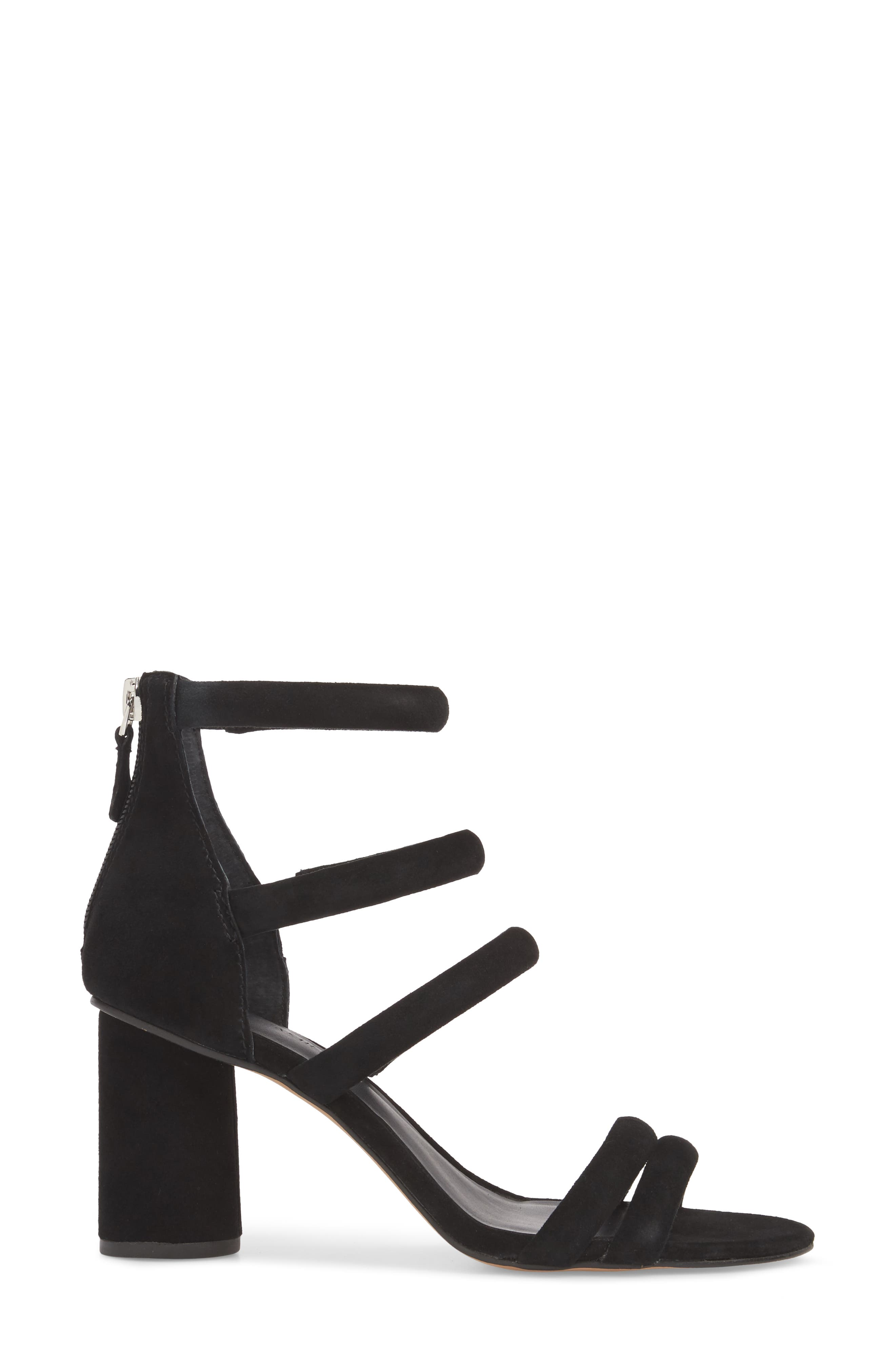 Andree Sandal,                             Alternate thumbnail 3, color,                             BLACK SUEDE
