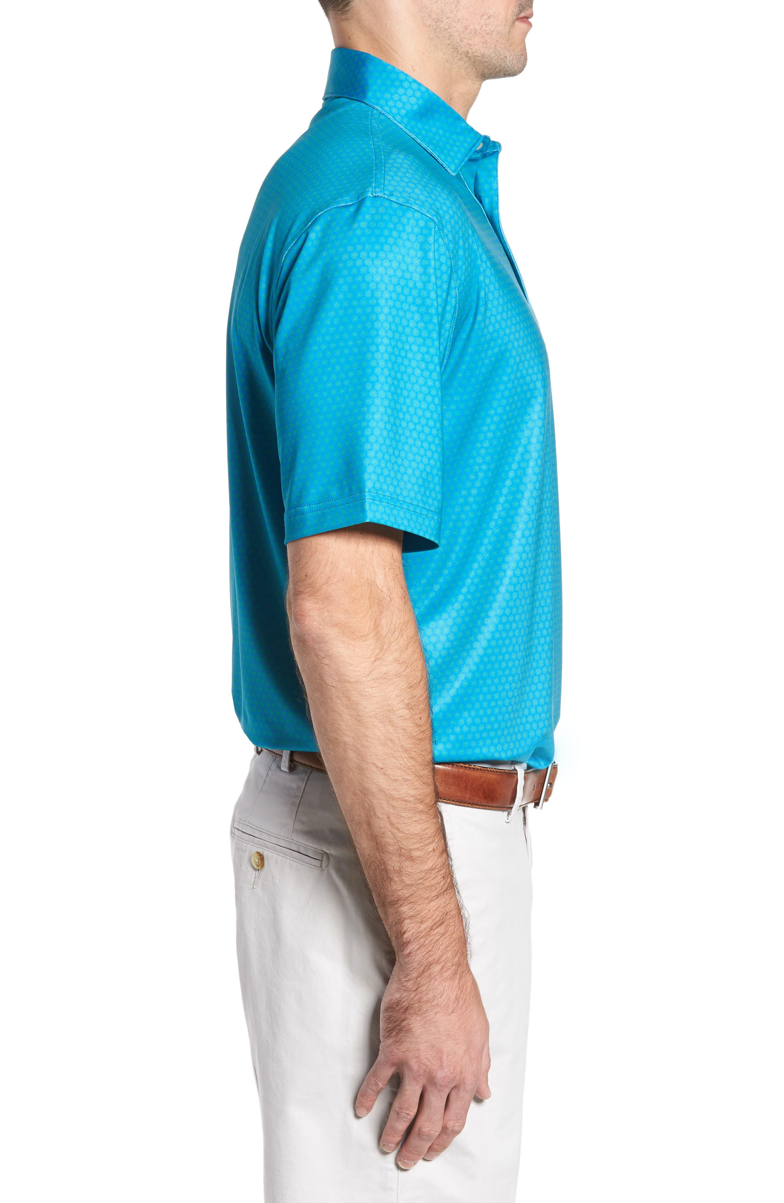 Sean Mata Sunburst Stretch Jersey Polo,                             Alternate thumbnail 3, color,                             403