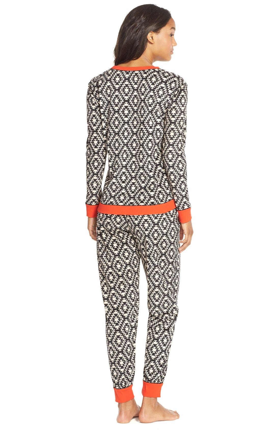 KENSIE,                             'ArcticChill' Knit Pajamas,                             Alternate thumbnail 2, color,                             015