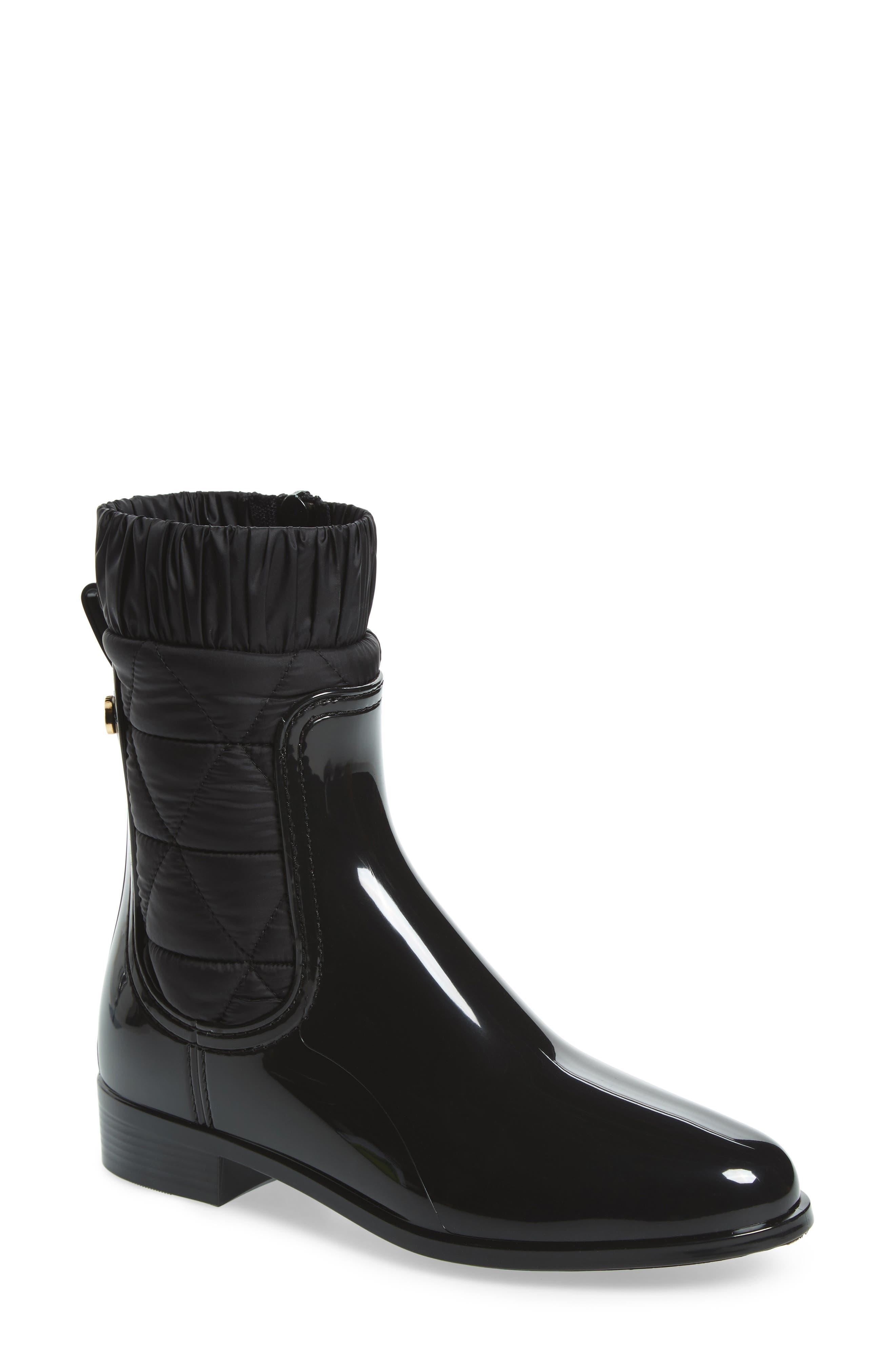 Adele Waterproof Boot,                             Main thumbnail 1, color,                             BLACK GLOSS