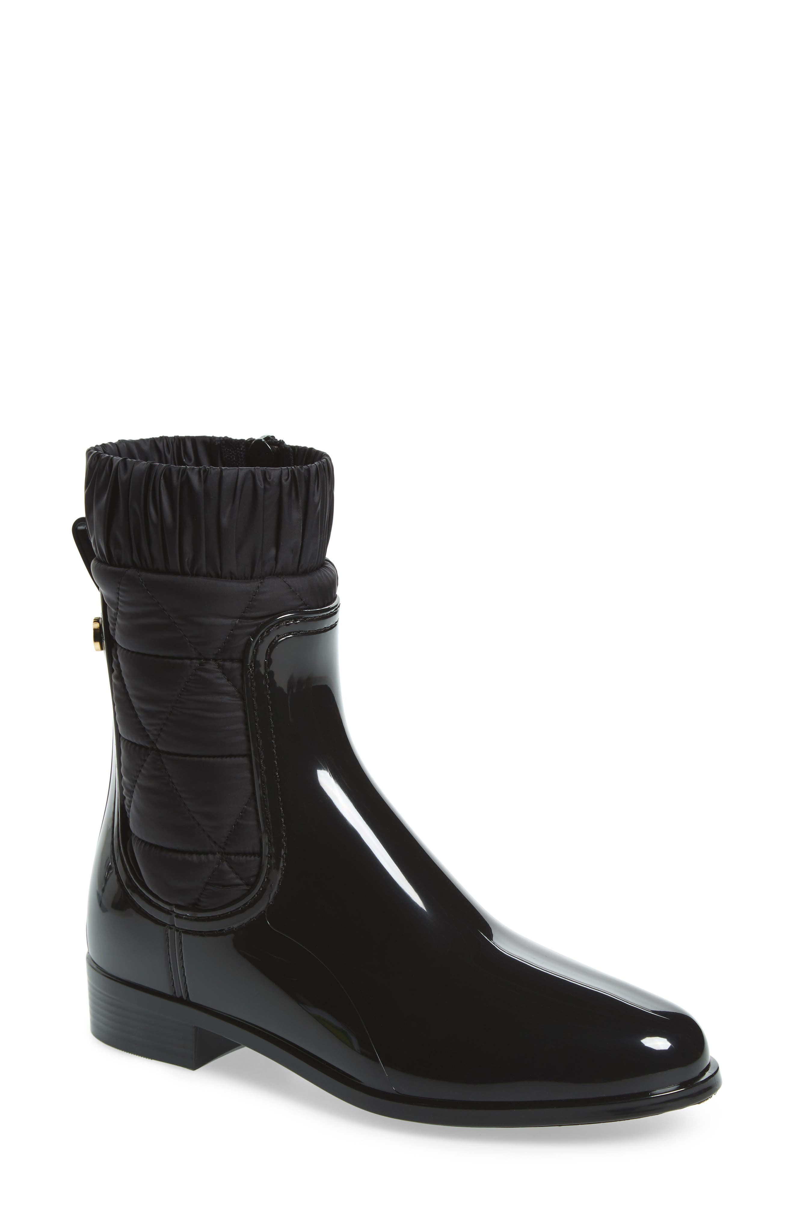 Adele Waterproof Boot,                         Main,                         color, BLACK GLOSS