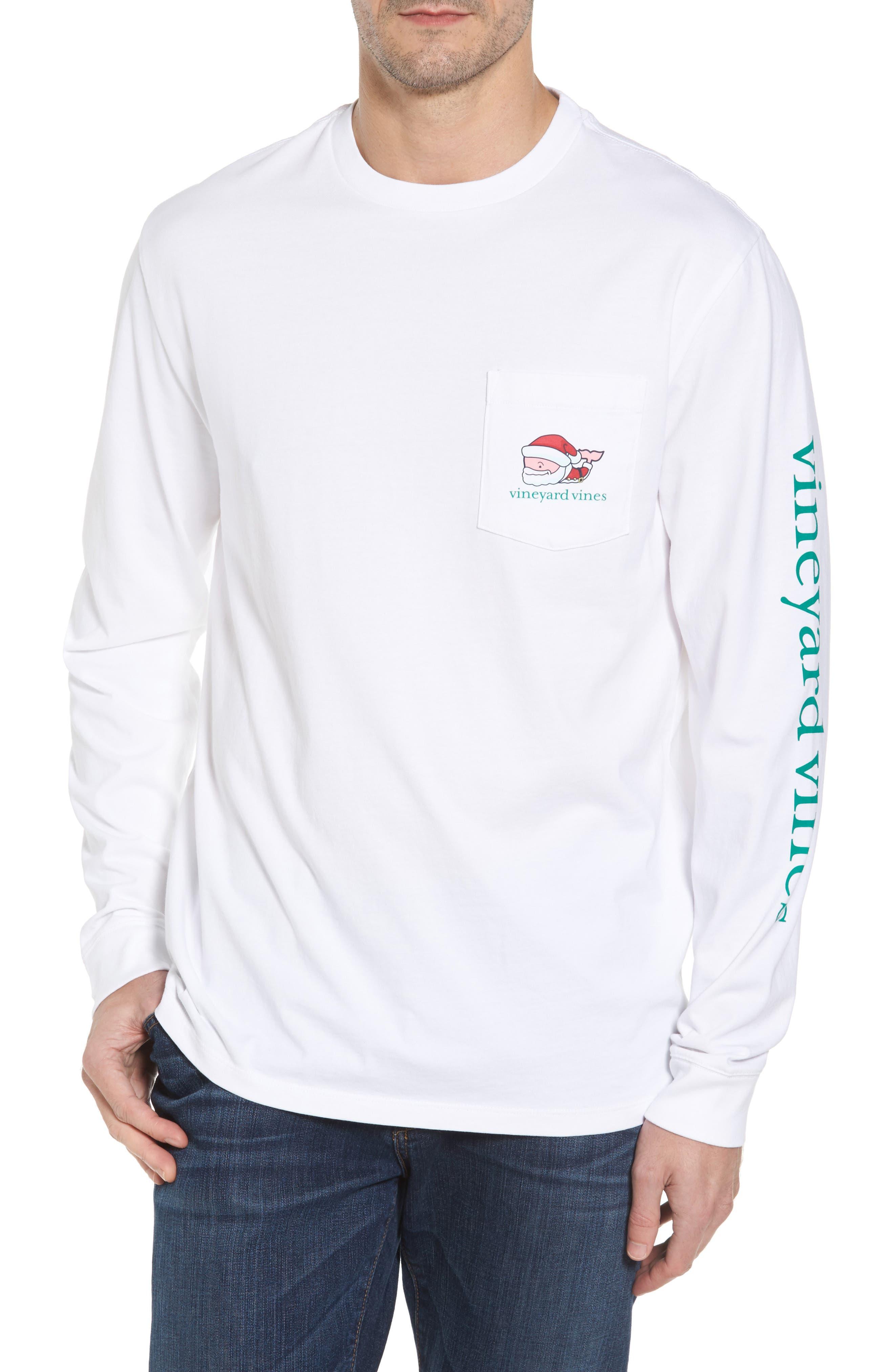 Mr. Claus Whale Graphic Pocket T-Shirt,                             Main thumbnail 1, color,                             100