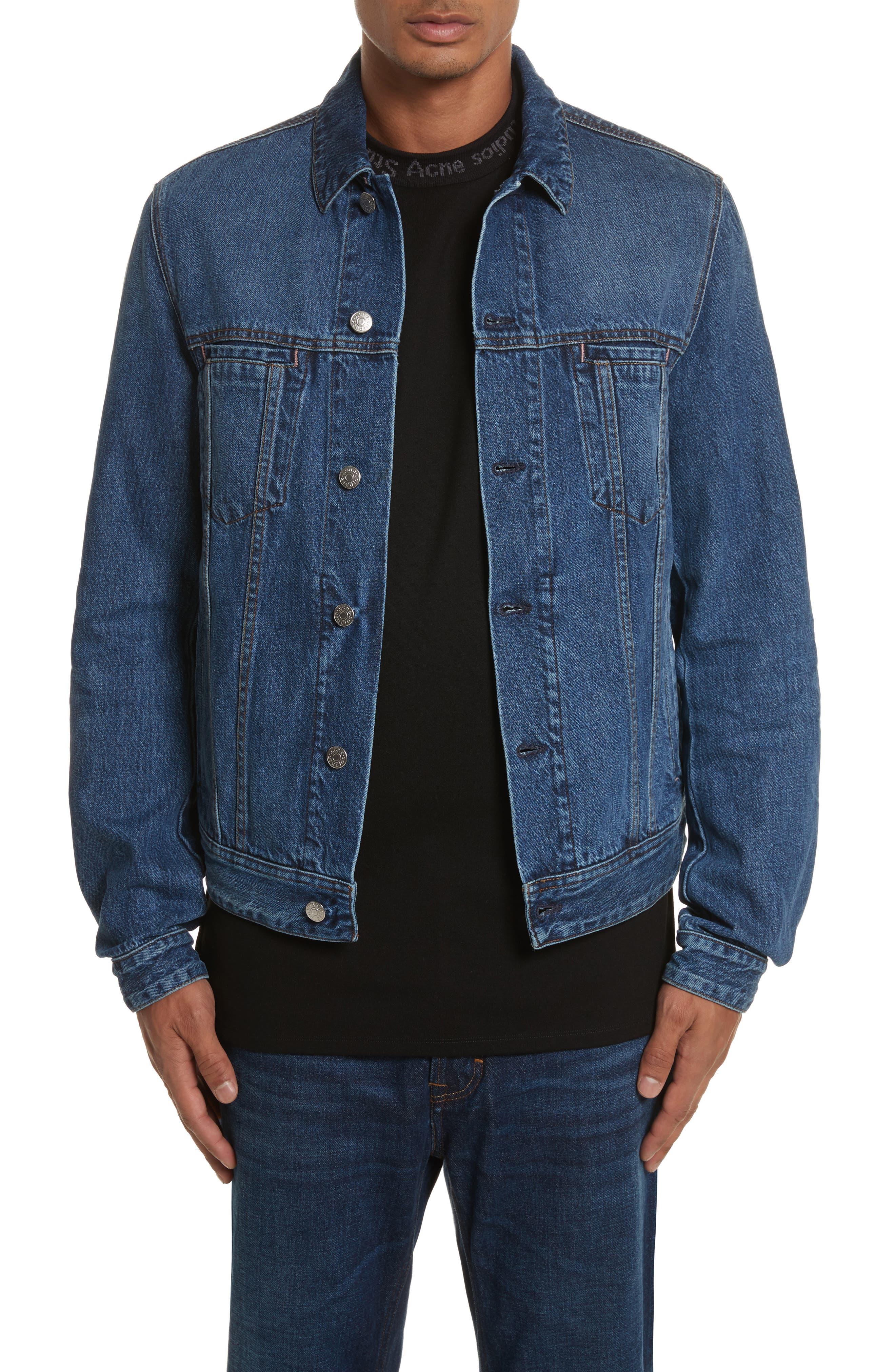 Denim Jacket,                         Main,                         color, MID BLUE