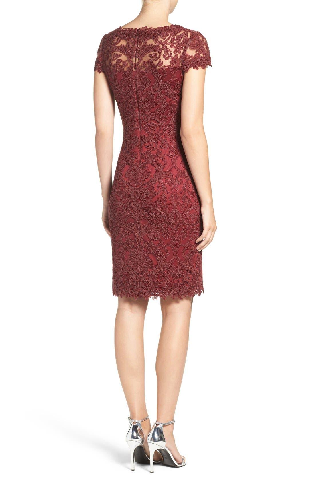 Illusion Yoke Lace Sheath Dress,                             Alternate thumbnail 42, color,