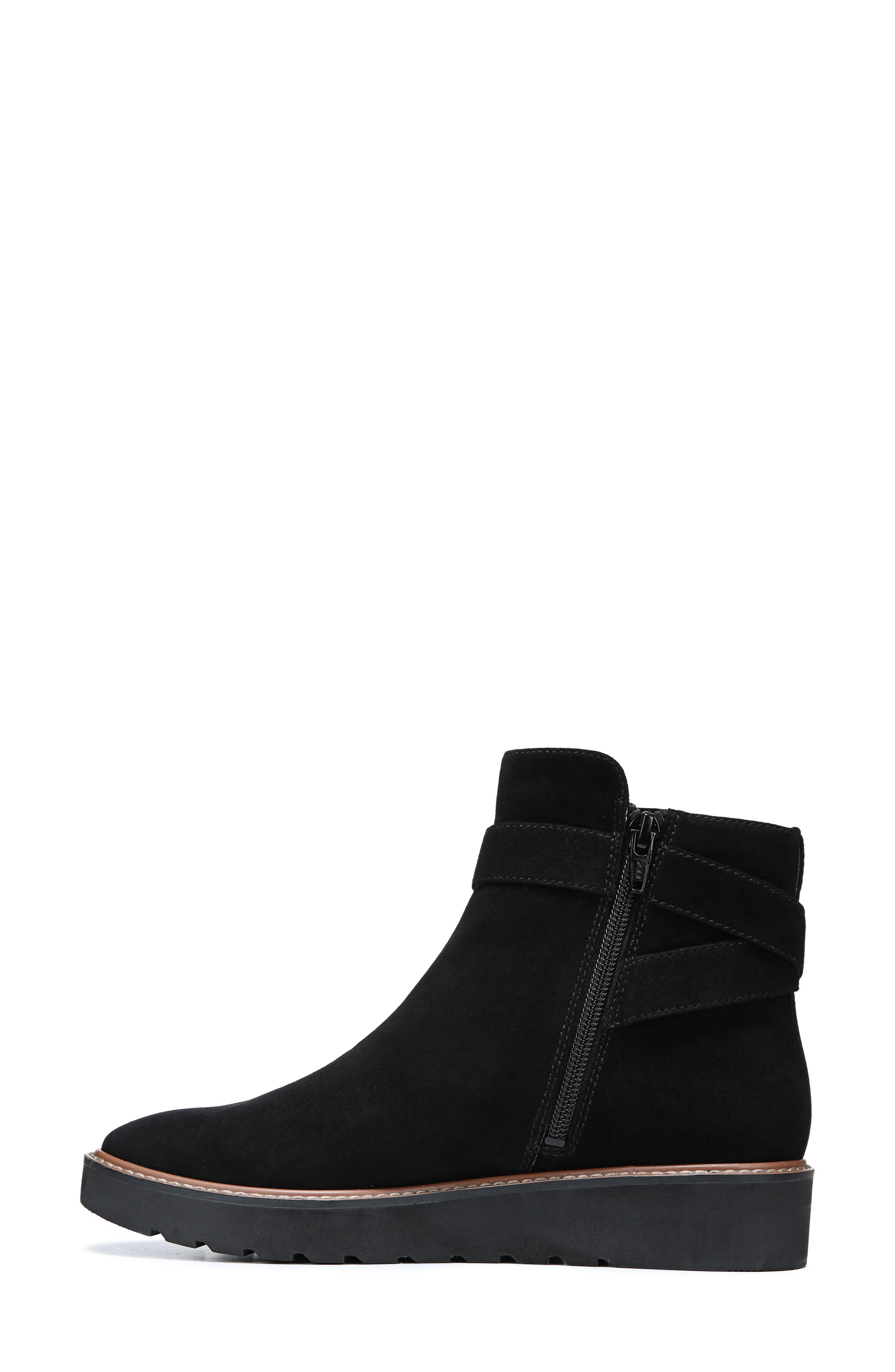Aster Bootie,                             Alternate thumbnail 7, color,                             BLACK SUEDE
