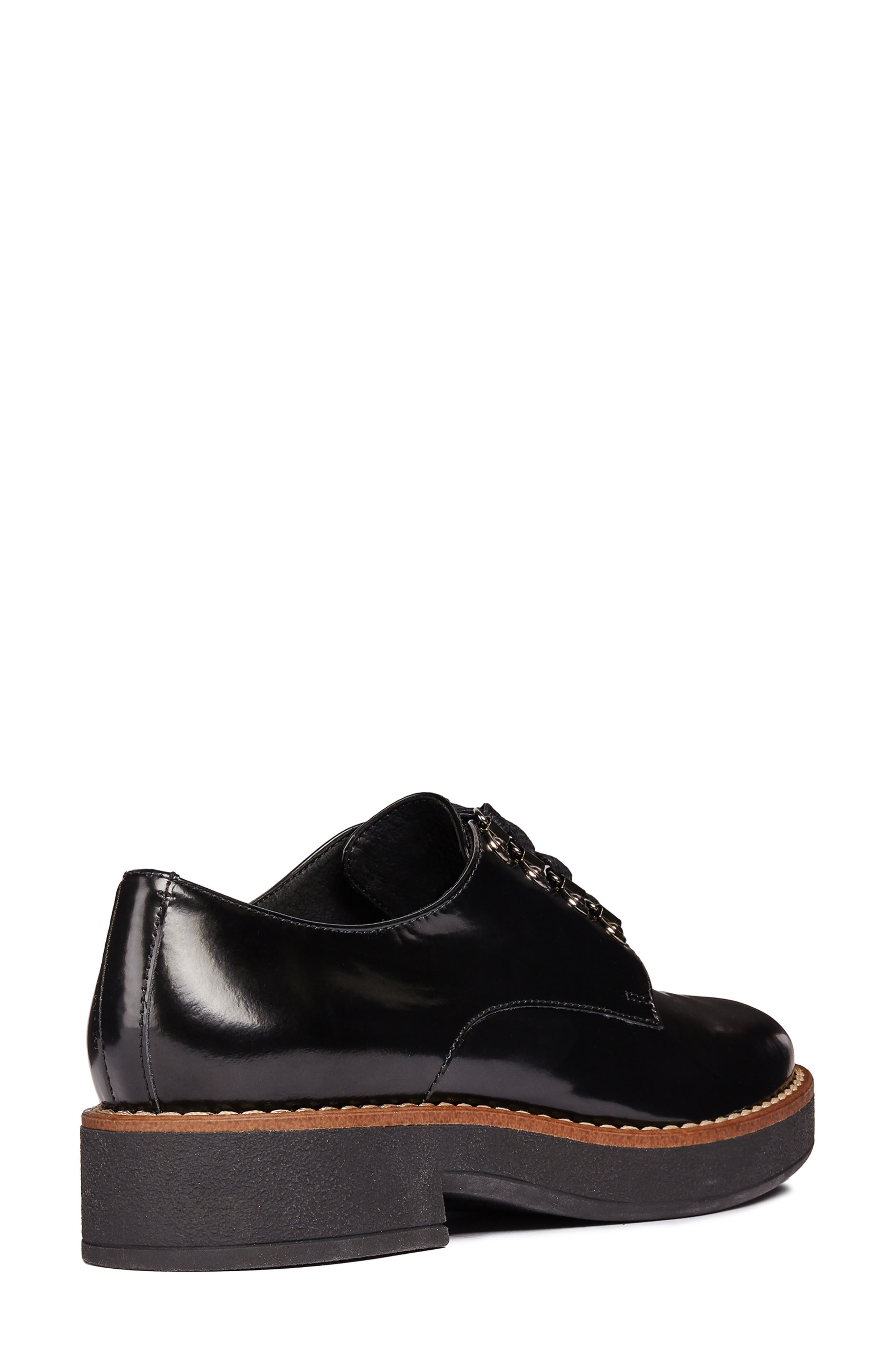 Adrya Oxford,                             Alternate thumbnail 6, color,                             BLACK/ BEIGE LEATHER