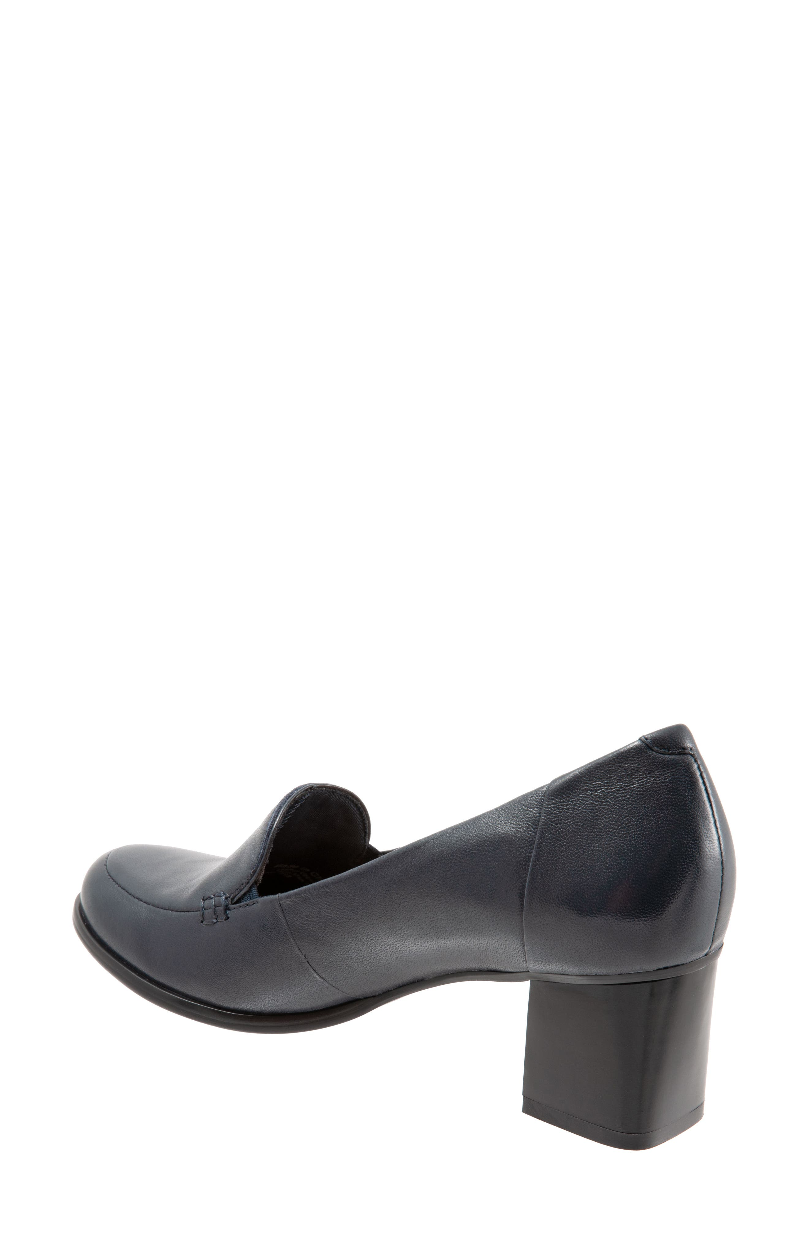 TROTTERS,                             Quincy Loafer Pump,                             Alternate thumbnail 2, color,                             NAVY LEATHER