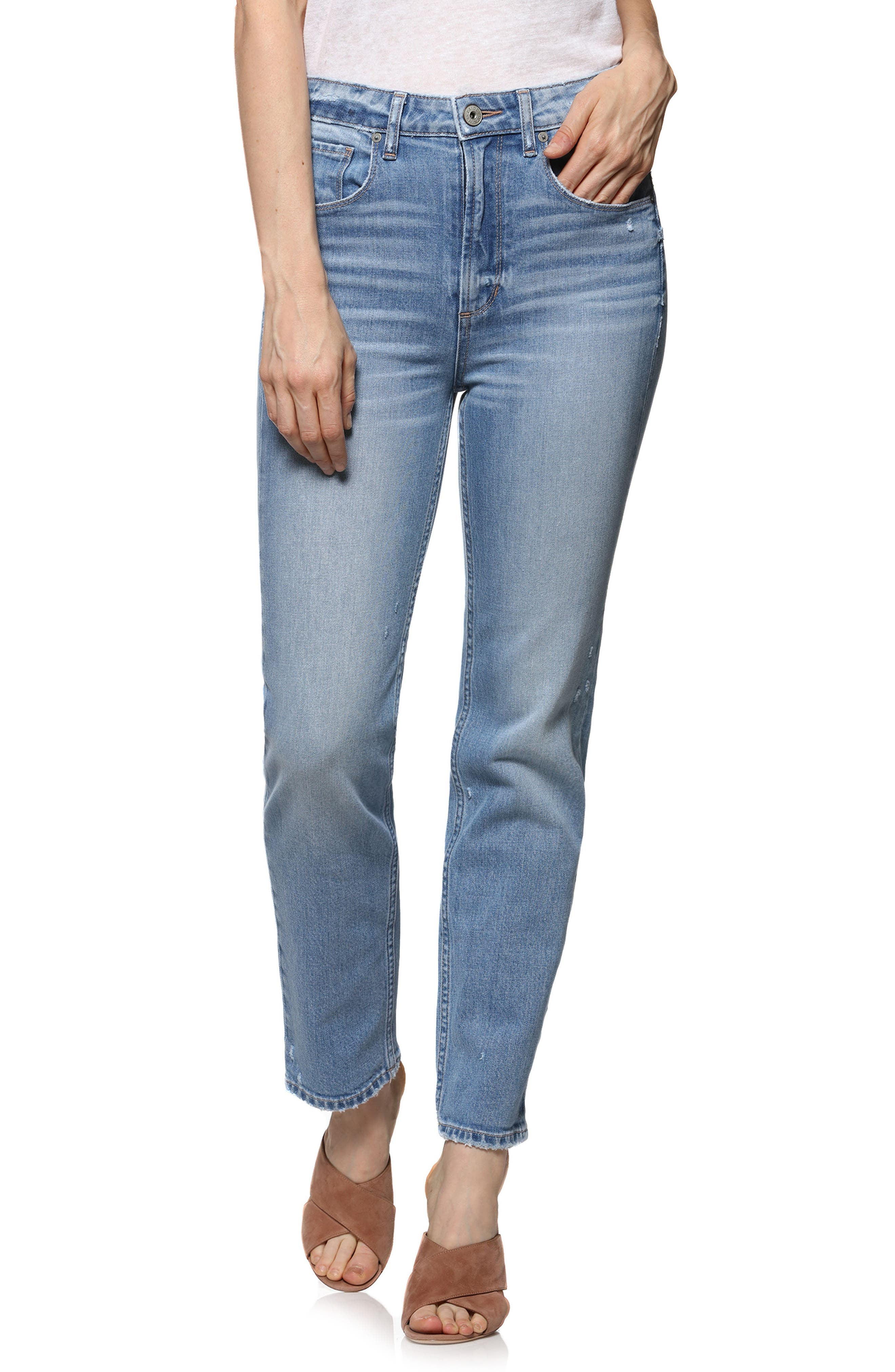 Vintage - Sarah High Waist Straight Leg Jeans,                             Main thumbnail 1, color,                             400