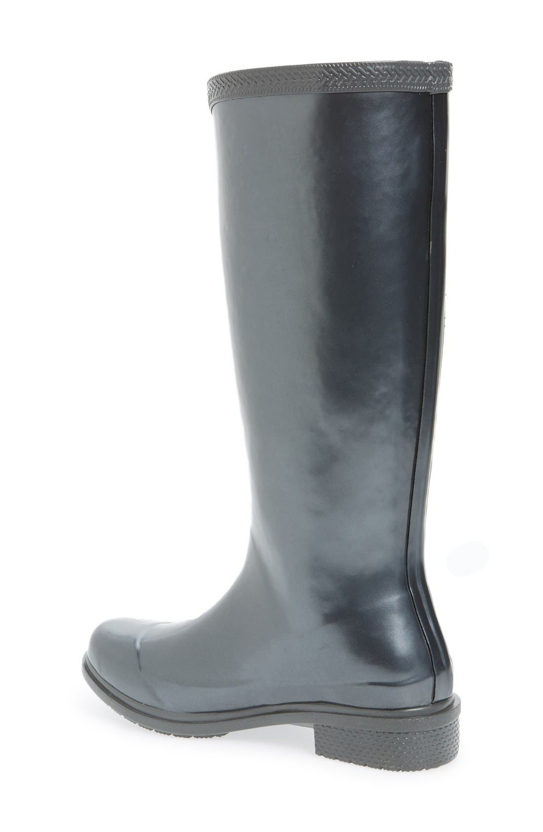 'Galochas Hi Metallic' Waterproof Rain Boot,                             Alternate thumbnail 3, color,