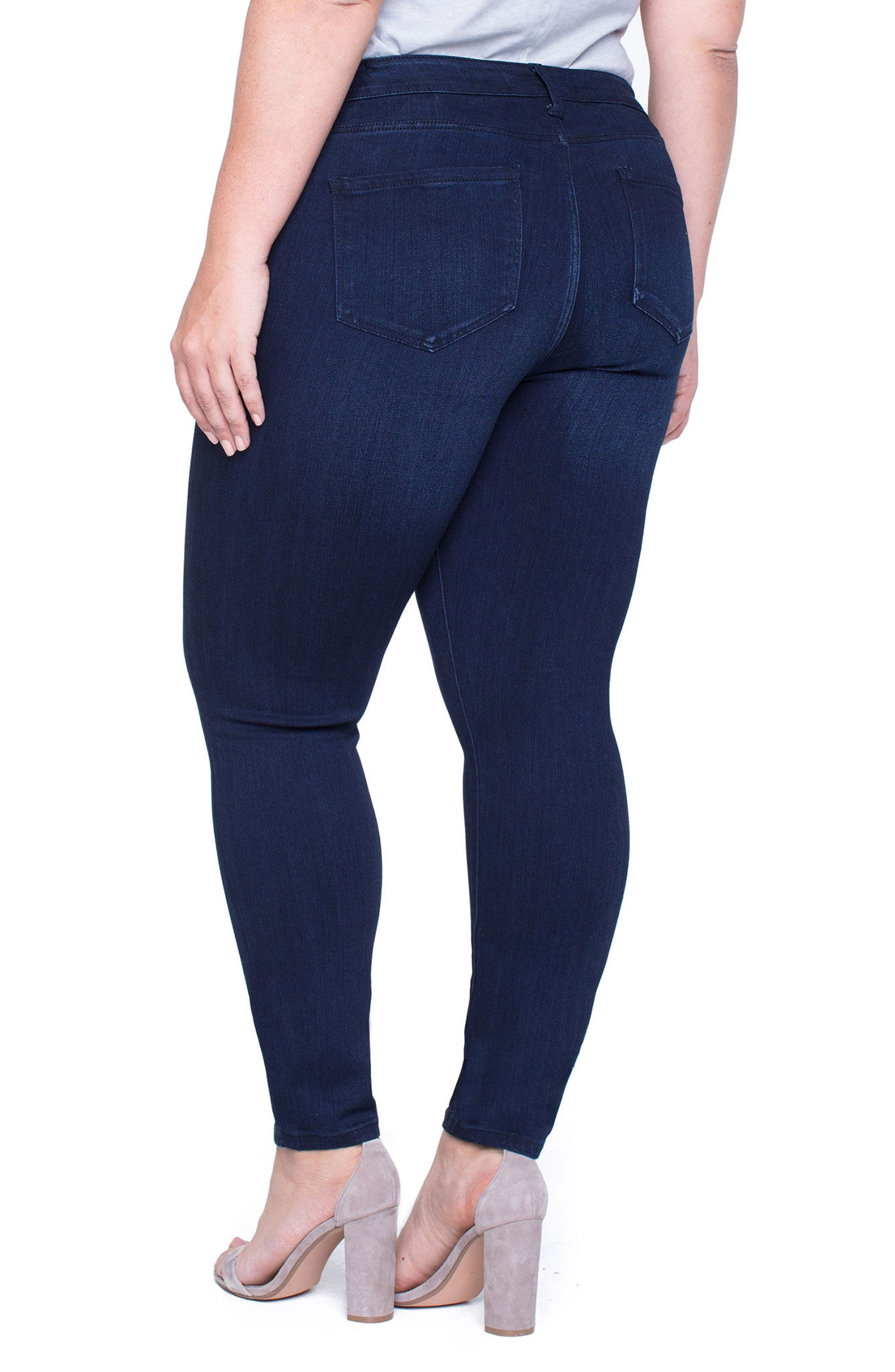Abby Stretch Skinny Jeans,                             Alternate thumbnail 2, color,                             STONE WASH