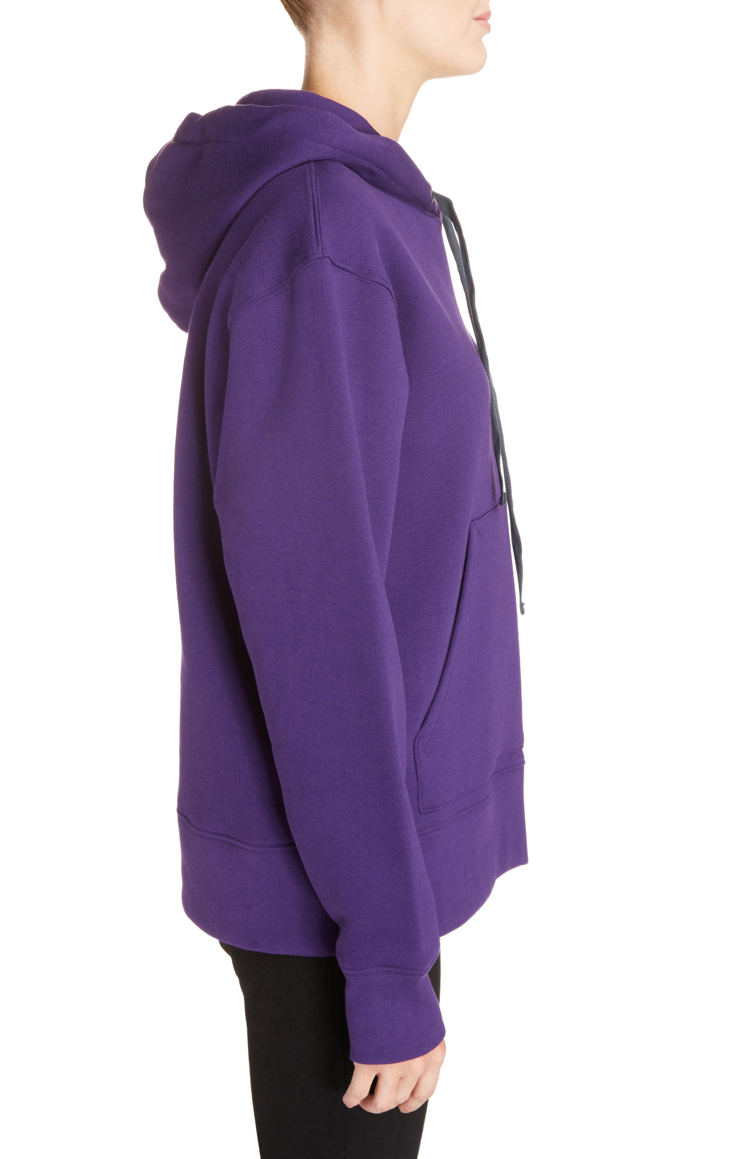 Ferris Face Hoodie,                             Alternate thumbnail 3, color,                             PURPLE