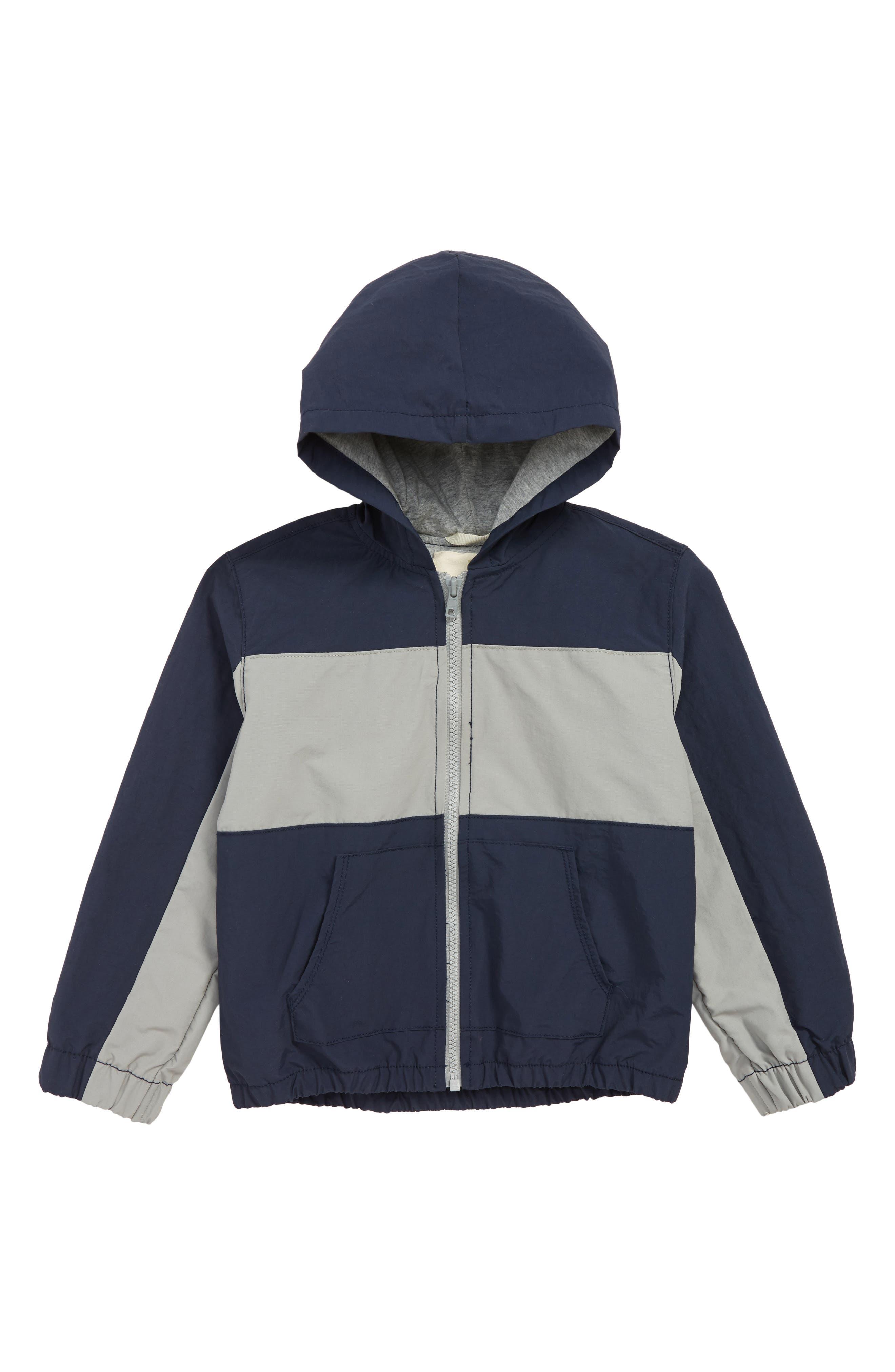 Get Outside Colorblock Hooded Jacket,                             Main thumbnail 1, color,                             NAVY BLAZER- GREY