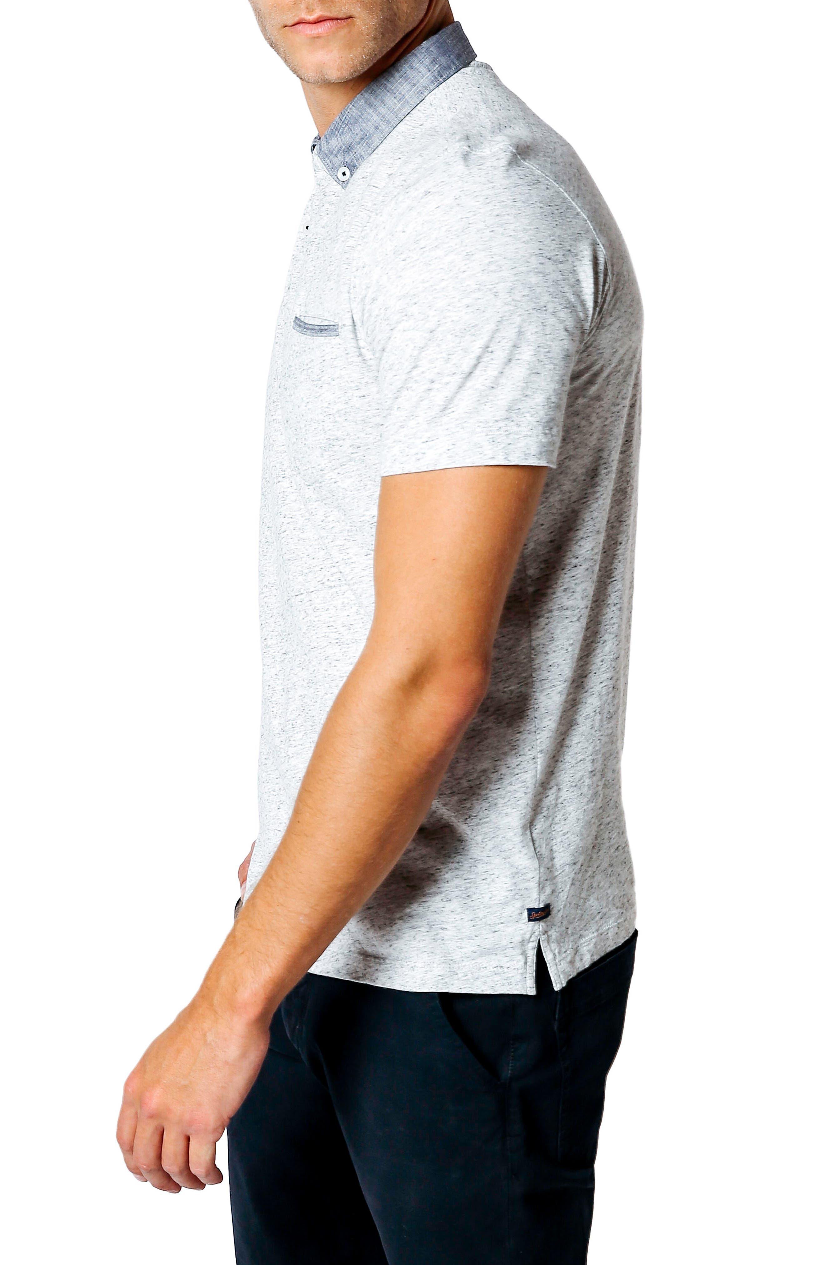 GOOD MAN BRAND,                             Trim Fit Polo Shirt,                             Alternate thumbnail 3, color,                             030