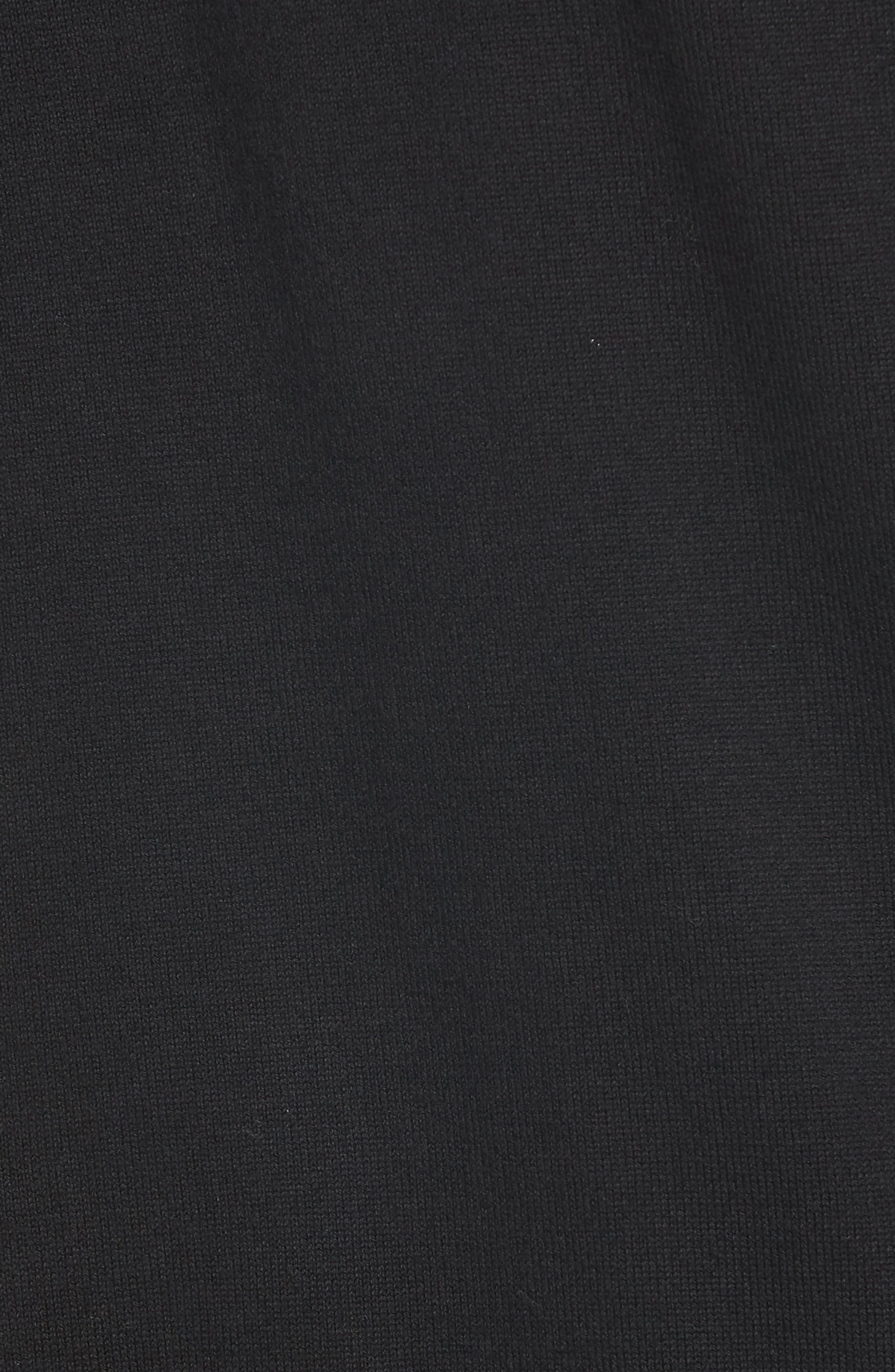 Atlanta Falcons - Lakemont Regular Fit Quarter Zip Sweater,                             Alternate thumbnail 5, color,                             BLACK
