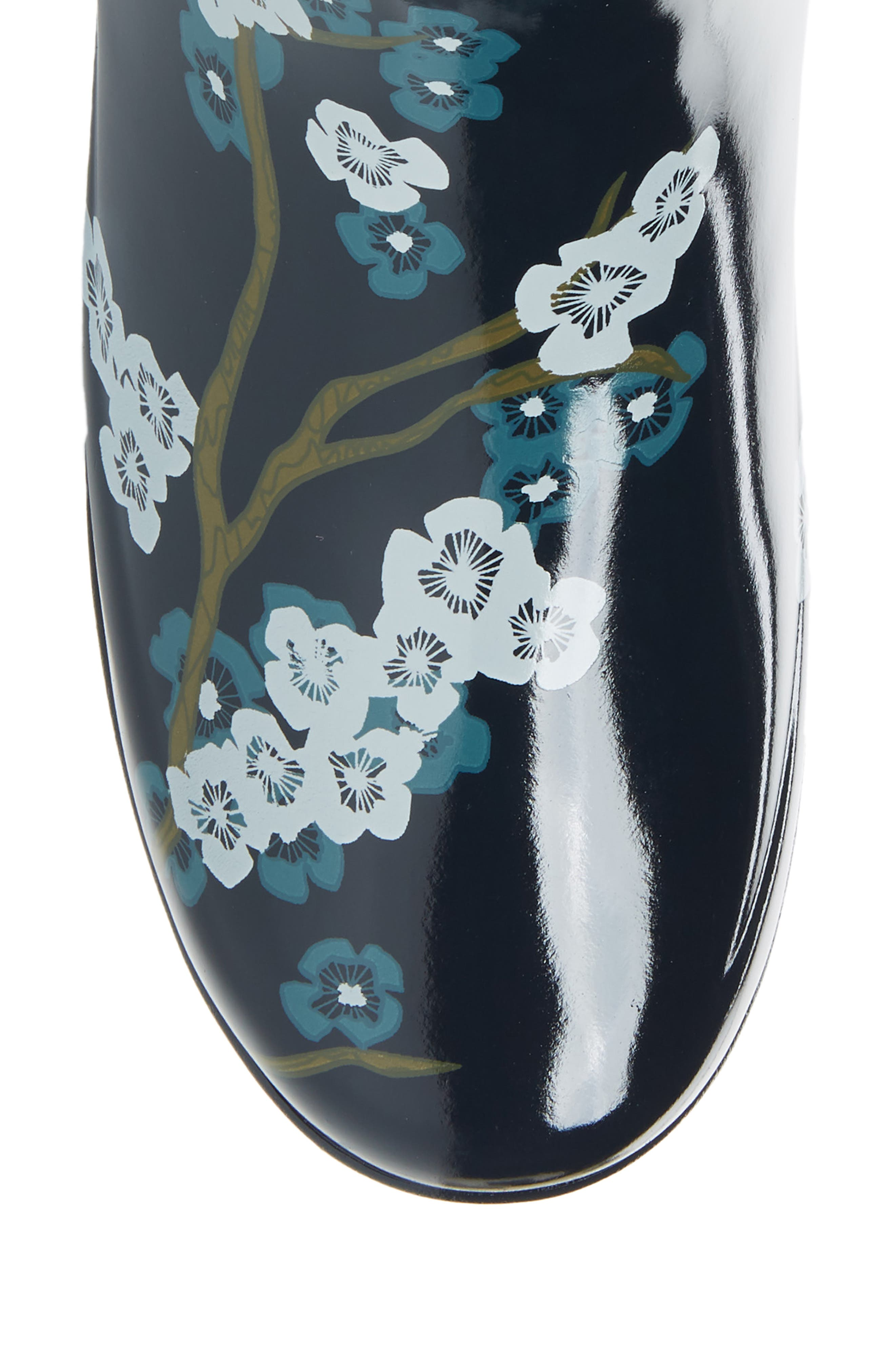 Original Refined Blossom Print Rain Boot,                             Alternate thumbnail 5, color,                             400