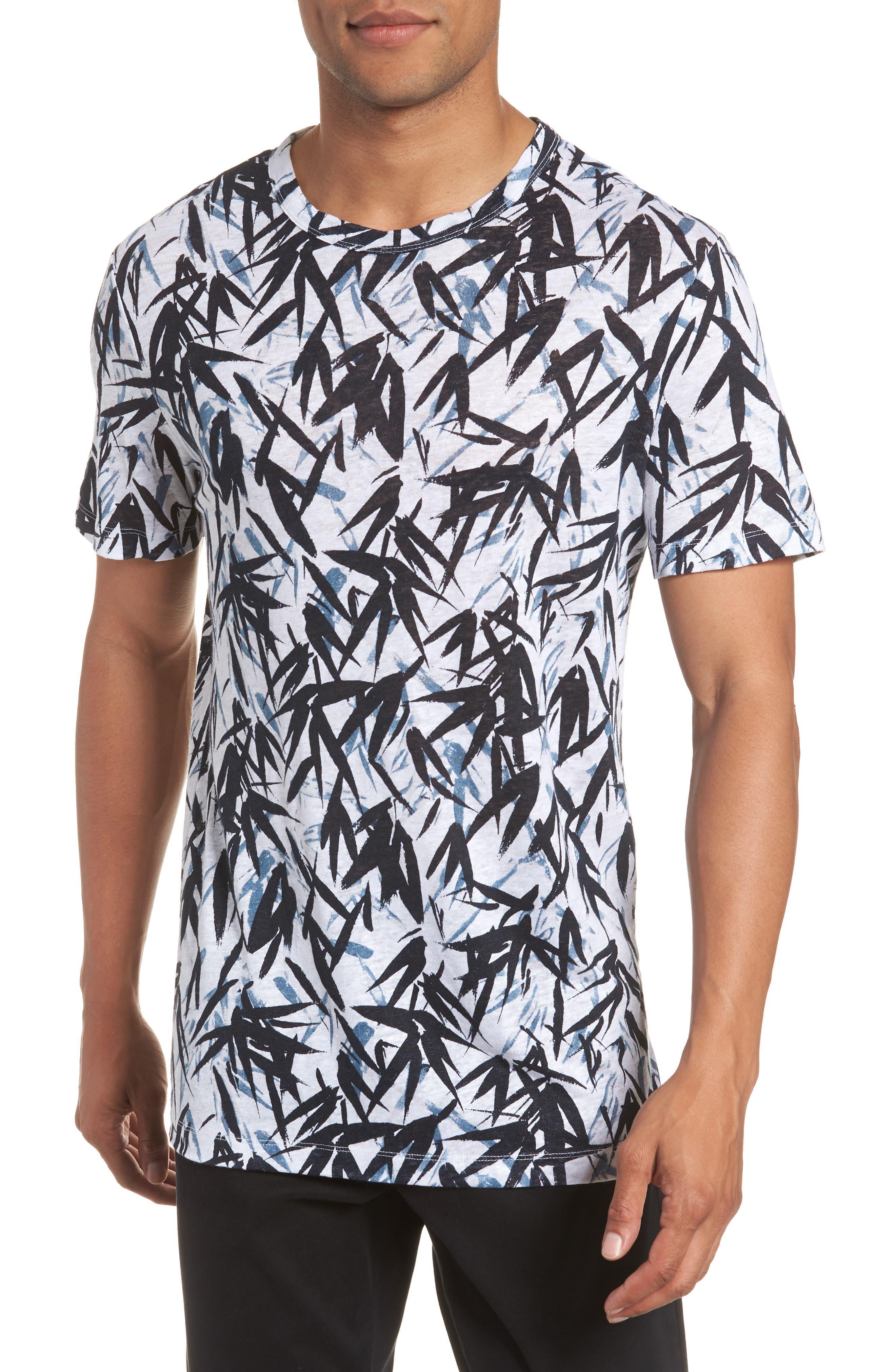 Essential Pinal Linen T-Shirt,                             Main thumbnail 1, color,                             HYDRO MULTI