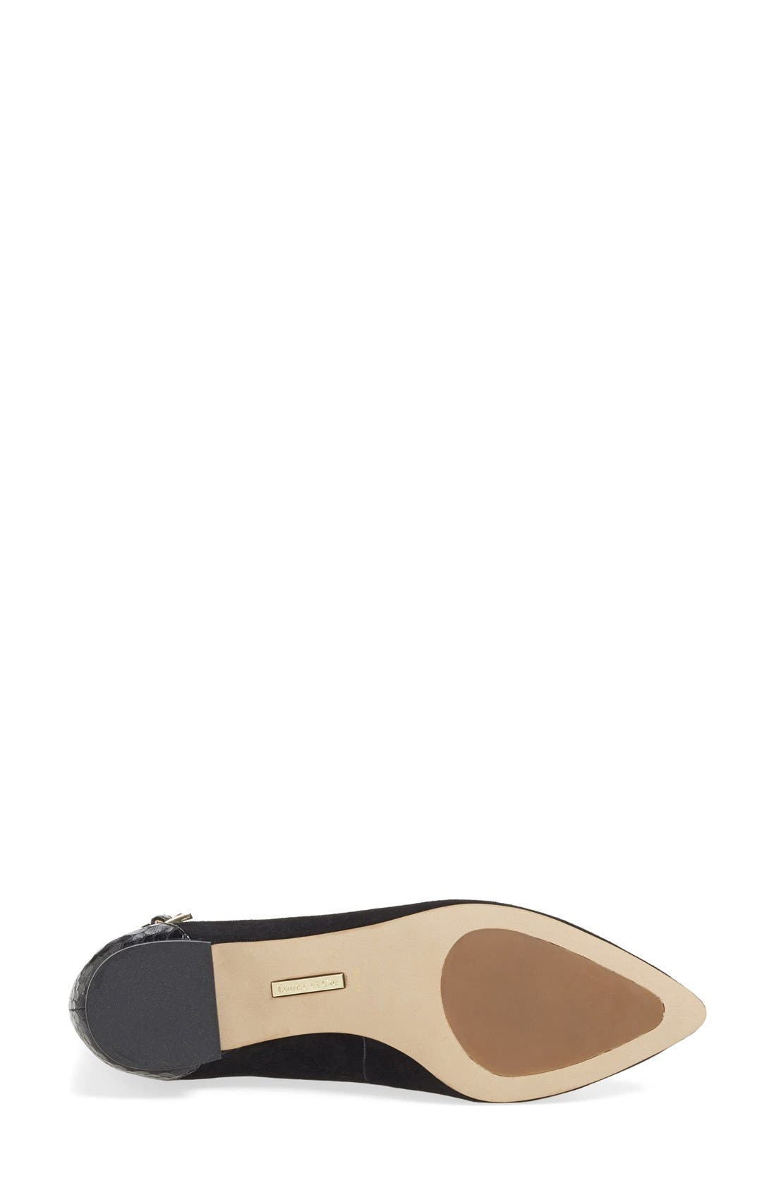 LOUISE ET CIE,                             'Barry' Ankle Strap Flat,                             Alternate thumbnail 3, color,                             001