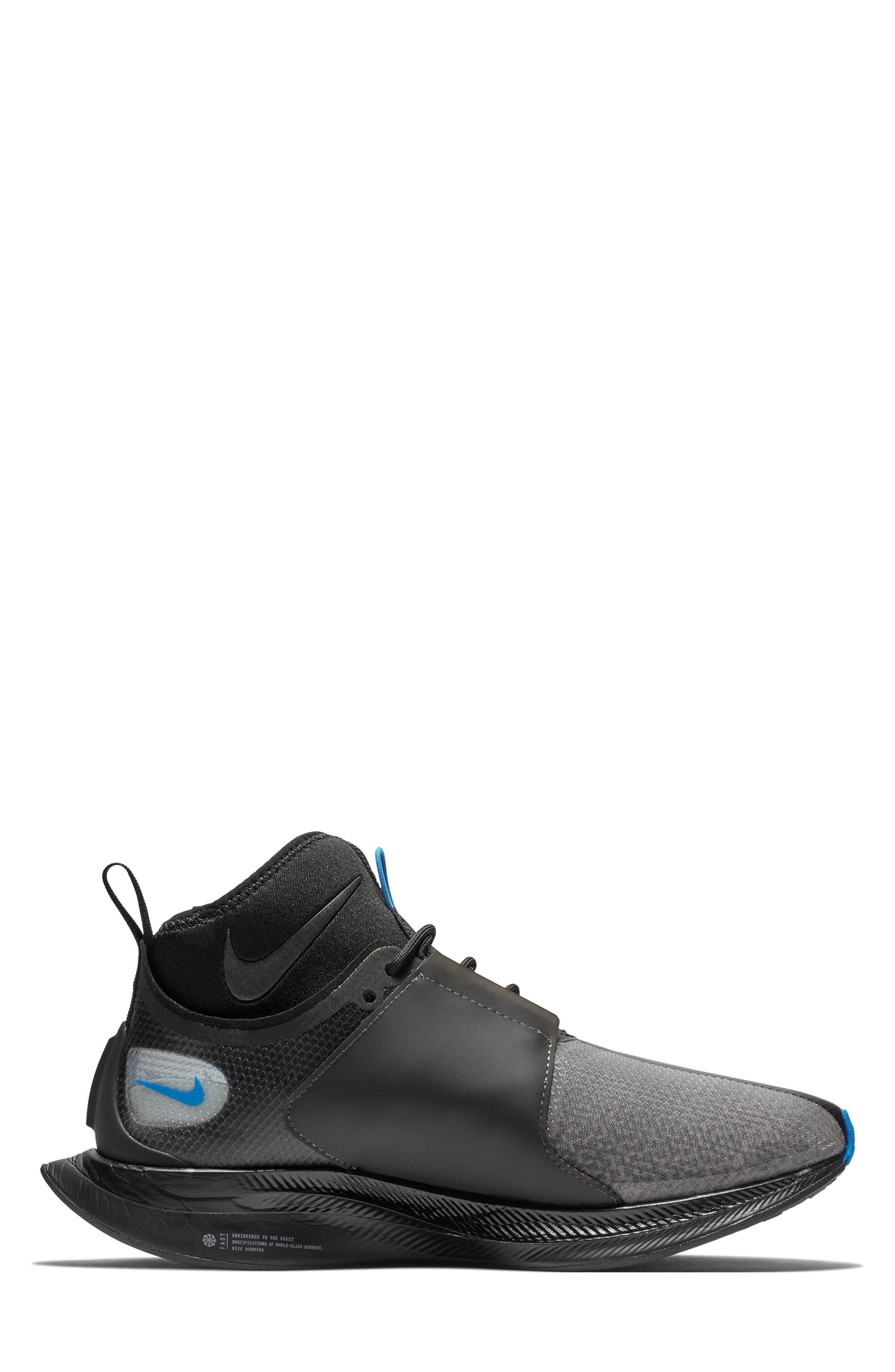 Zoom Pegasus Turbo XX Running Shoe,                             Alternate thumbnail 6, color,                             BLACK/ BLACK/ COBALT BLAZE