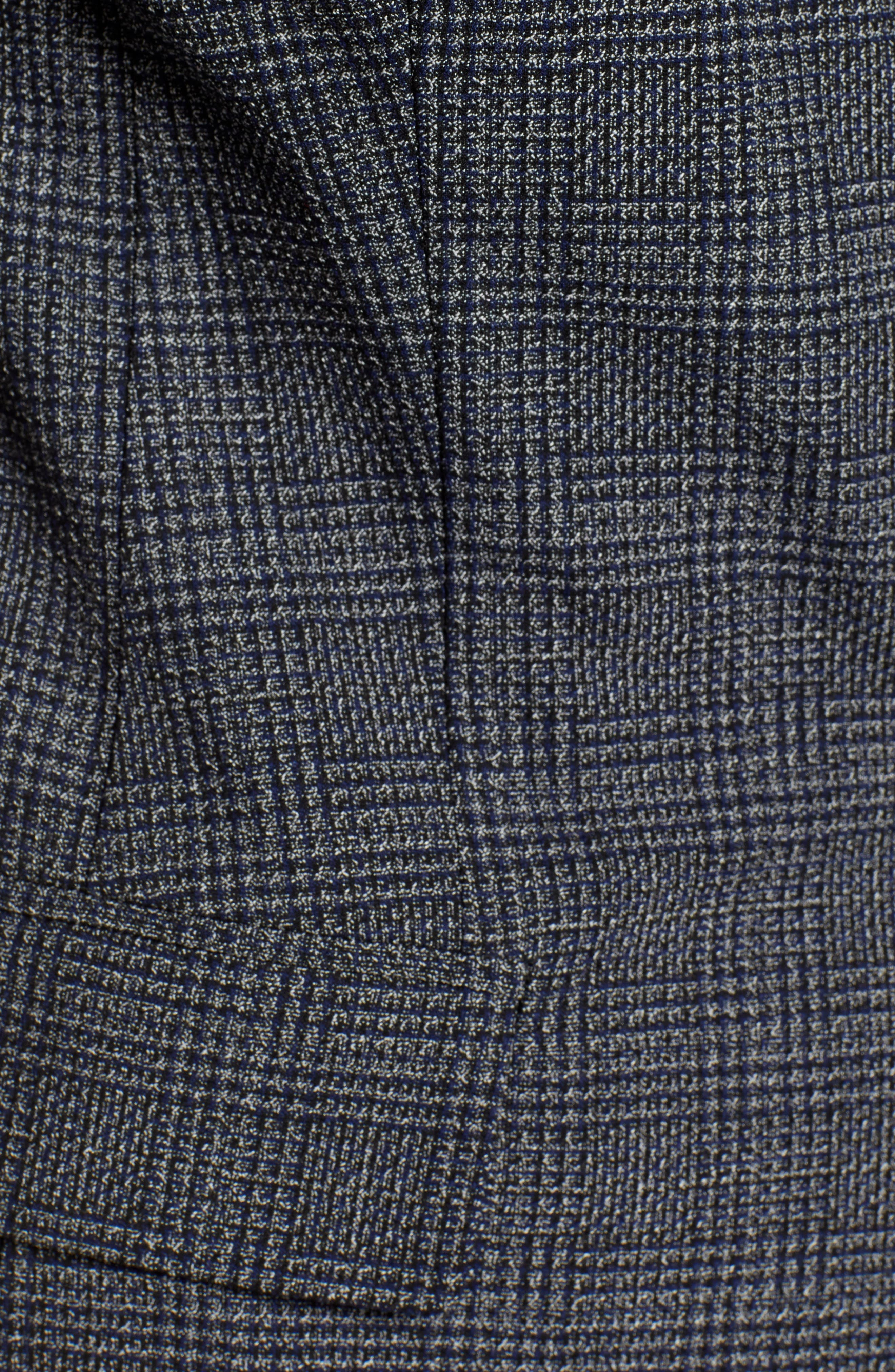 Menswear Blazer,                             Alternate thumbnail 6, color,                             BLACK MANHATTAN CHECK