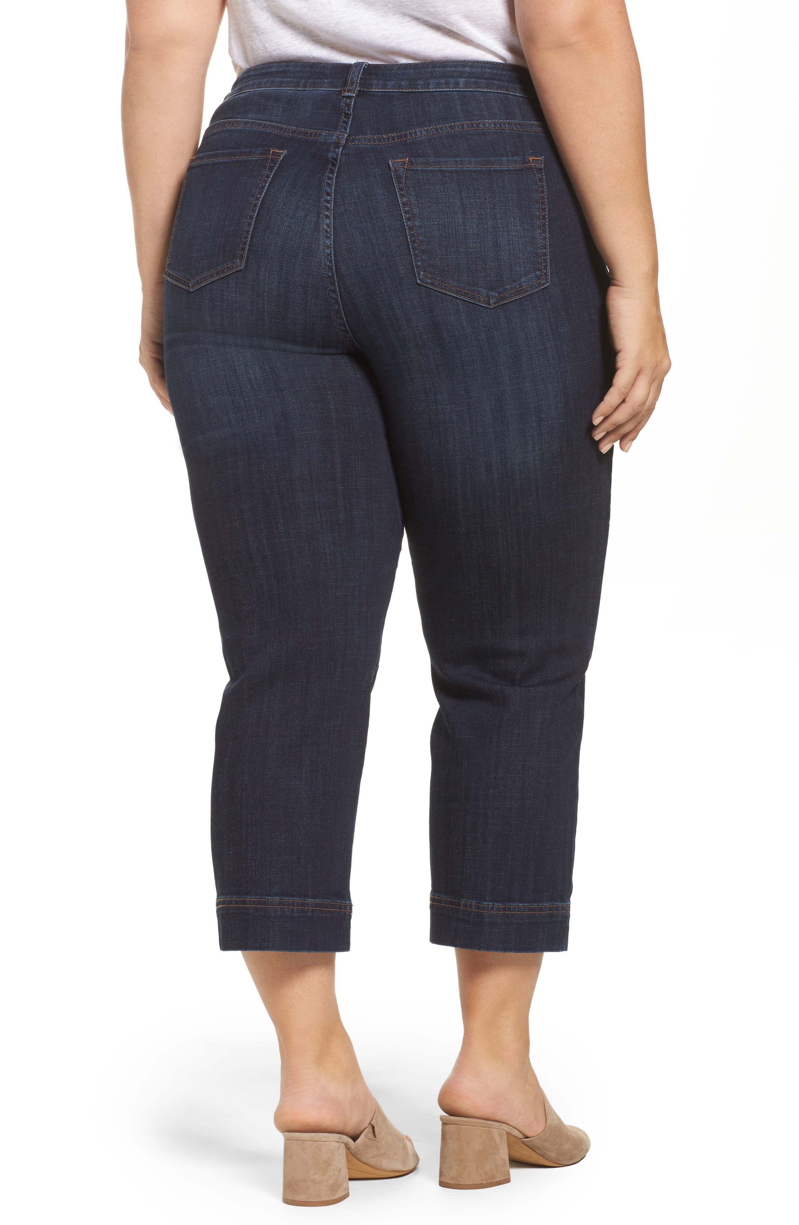 Wide Leg Crop Jeans,                             Alternate thumbnail 3, color,