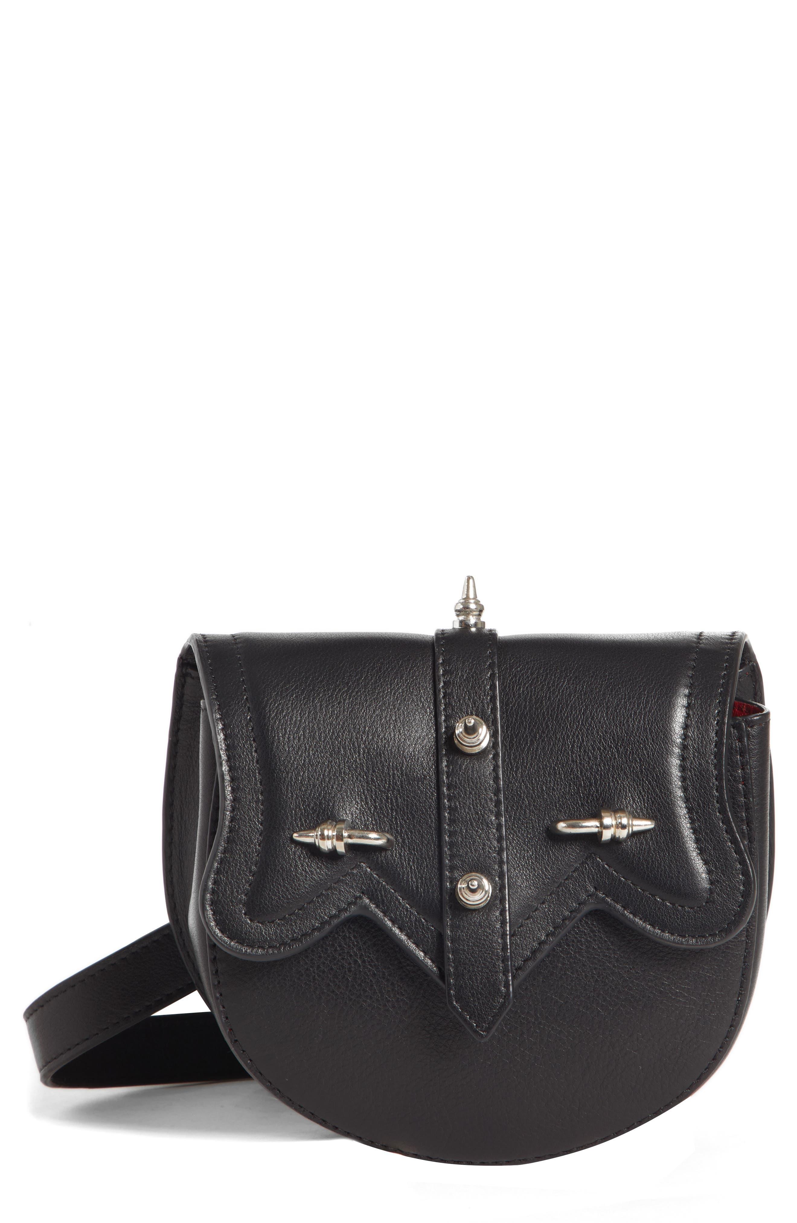 Dome Belt Bag,                             Main thumbnail 1, color,                             BLACK X SILVER