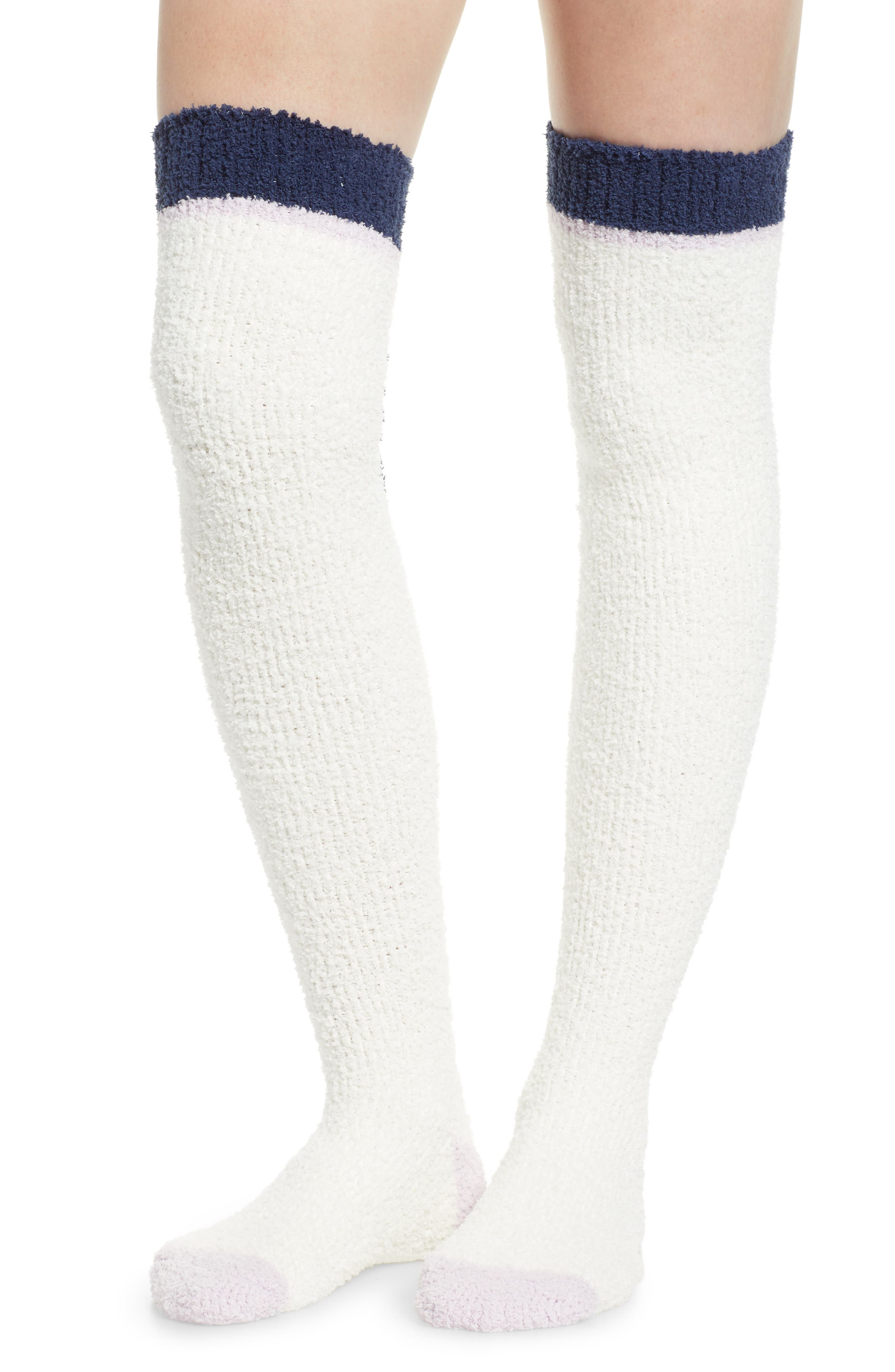 Cozy Over the Knee Socks,                         Main,                         color, WHITE